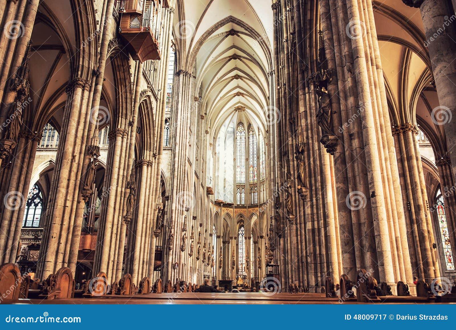 Interior de la catedral de colonia imagen de archivo imagen de arco edificio 48009717 - Foto foto interior ...