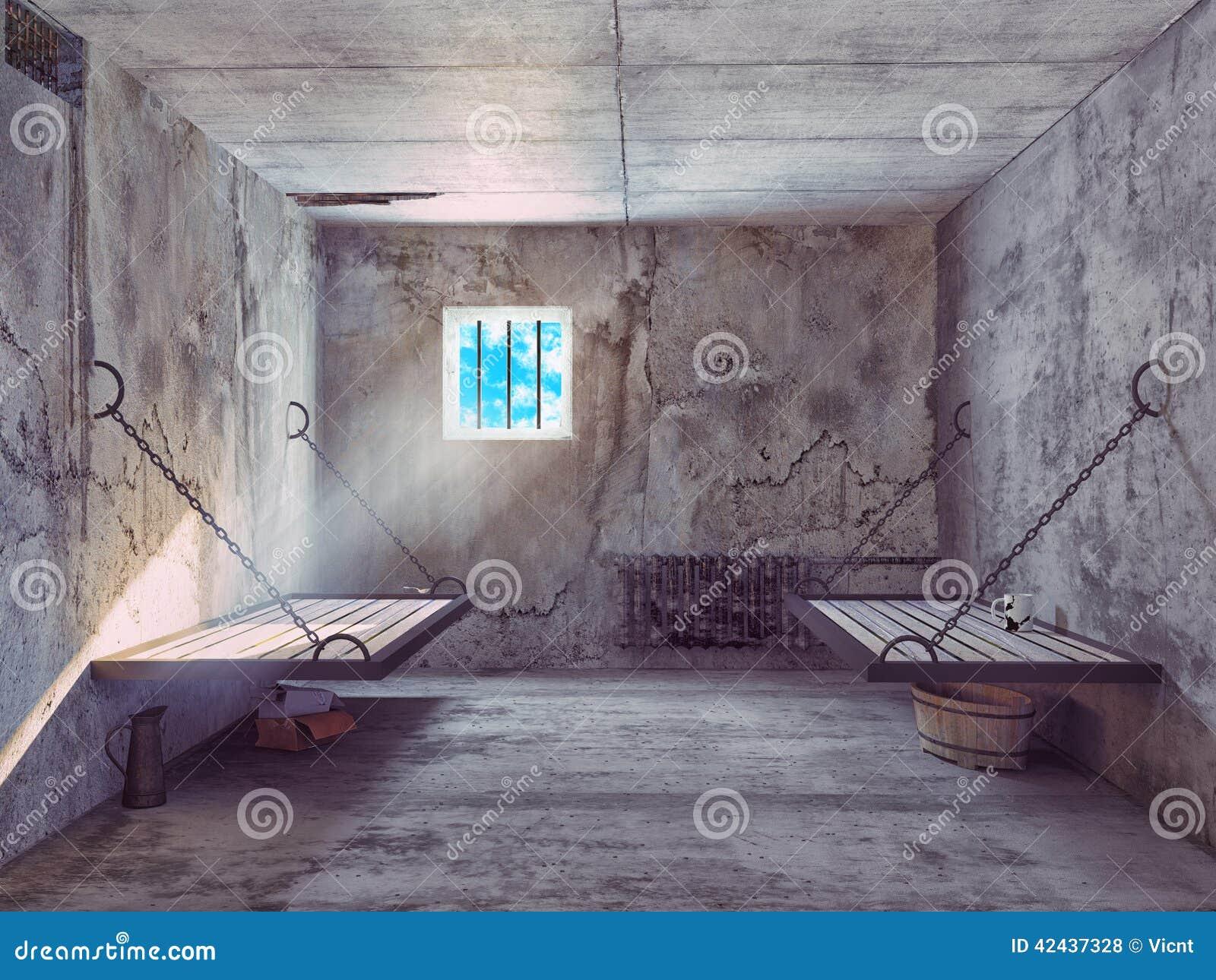 Interior de la celda de prisión