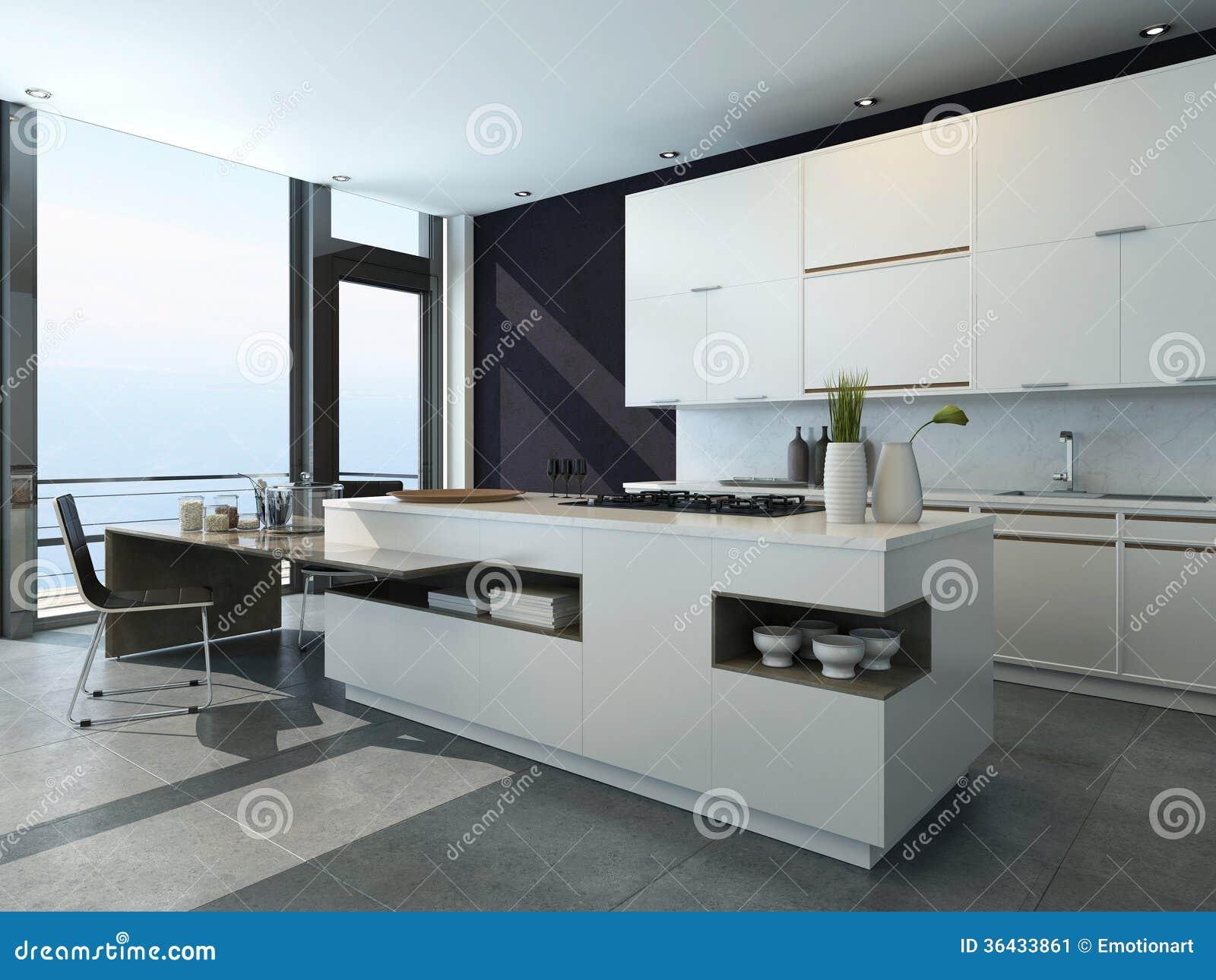 Interior de la cocina del dise o moderno imagen de archivo - Cocina diseno moderno ...
