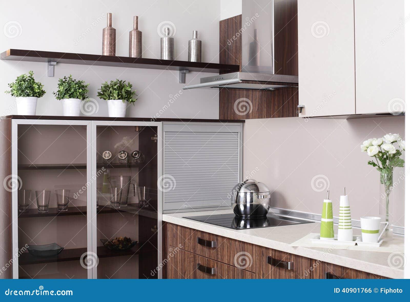 Interior de la cocina europea moderna foto de archivo for La cocina moderna y de vanguardia