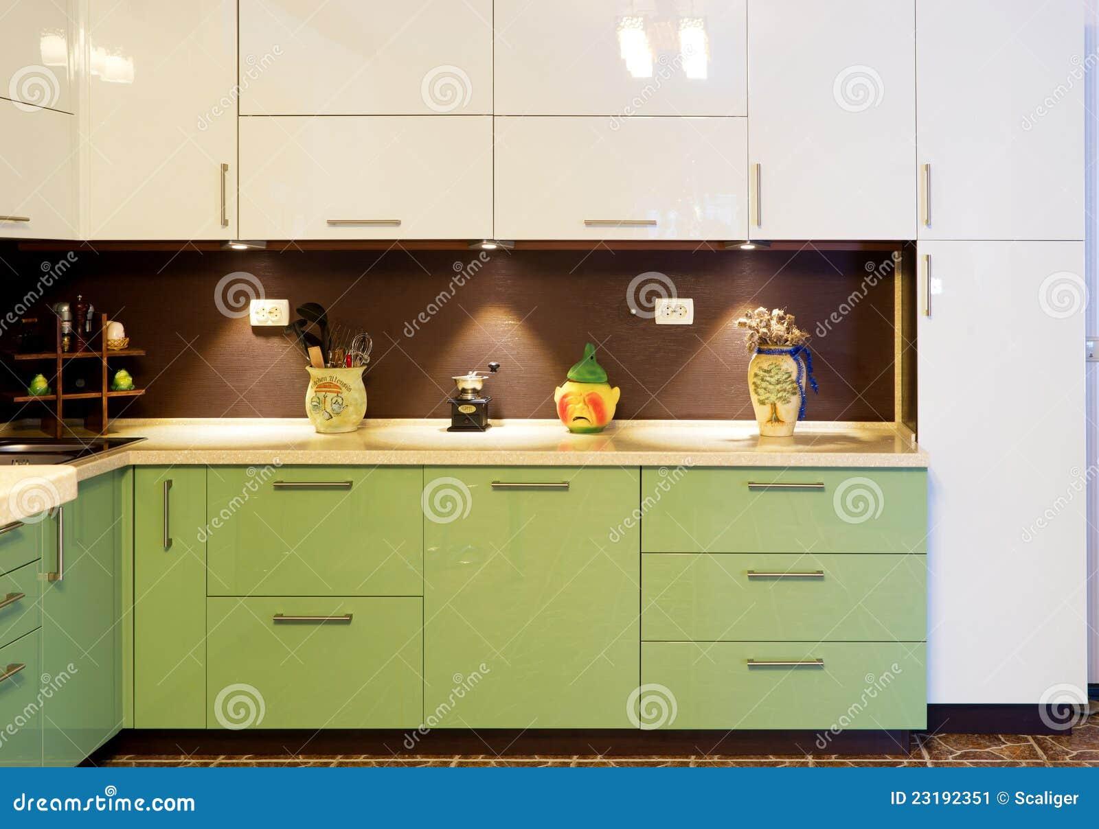 Interior de la cocina moderna imagen de archivo imagen for Interior cocinas modernas