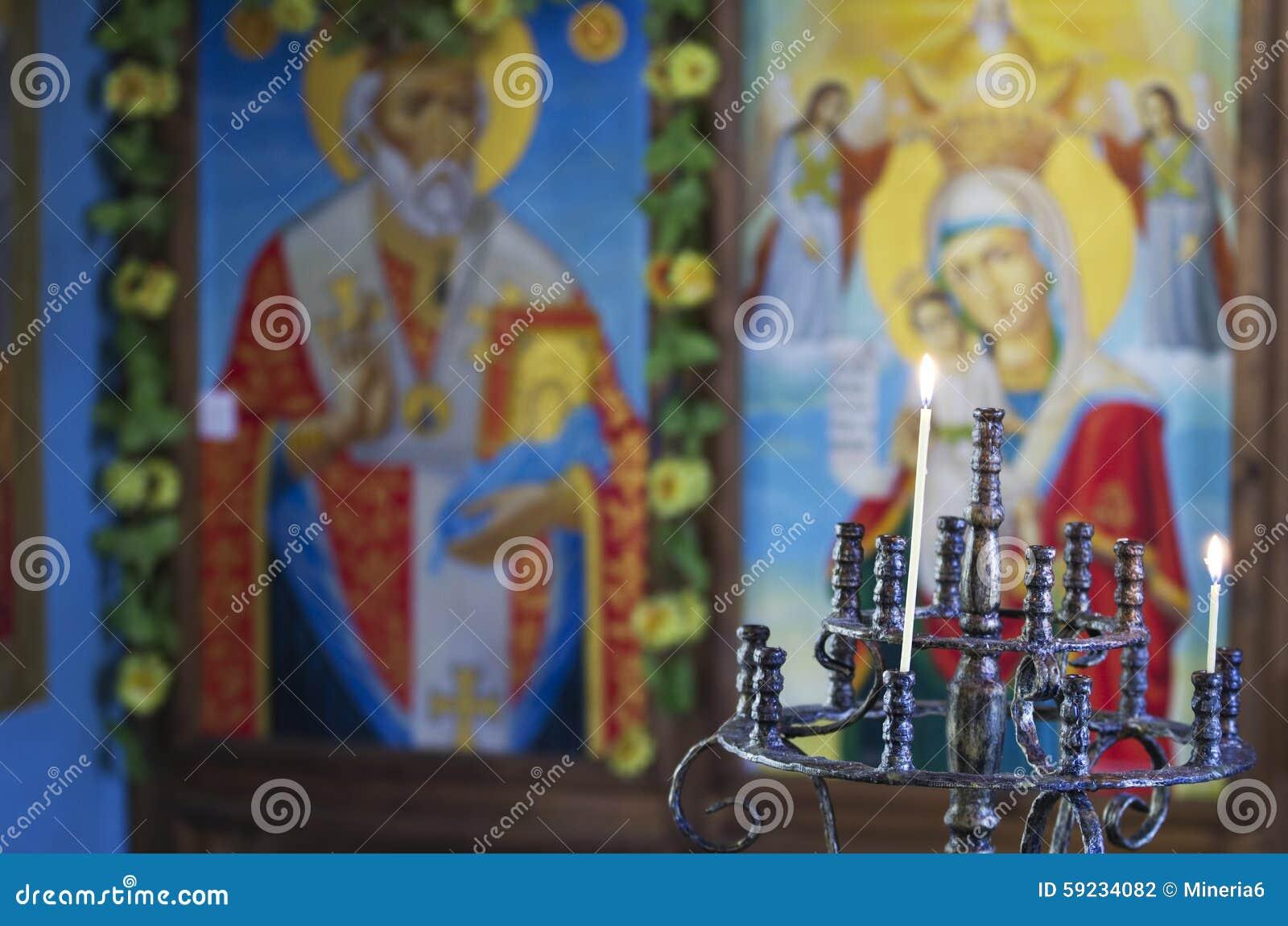 Download Interior De La Iglesia Ortodoxa Foto de archivo - Imagen de fondo, adentro: 59234082