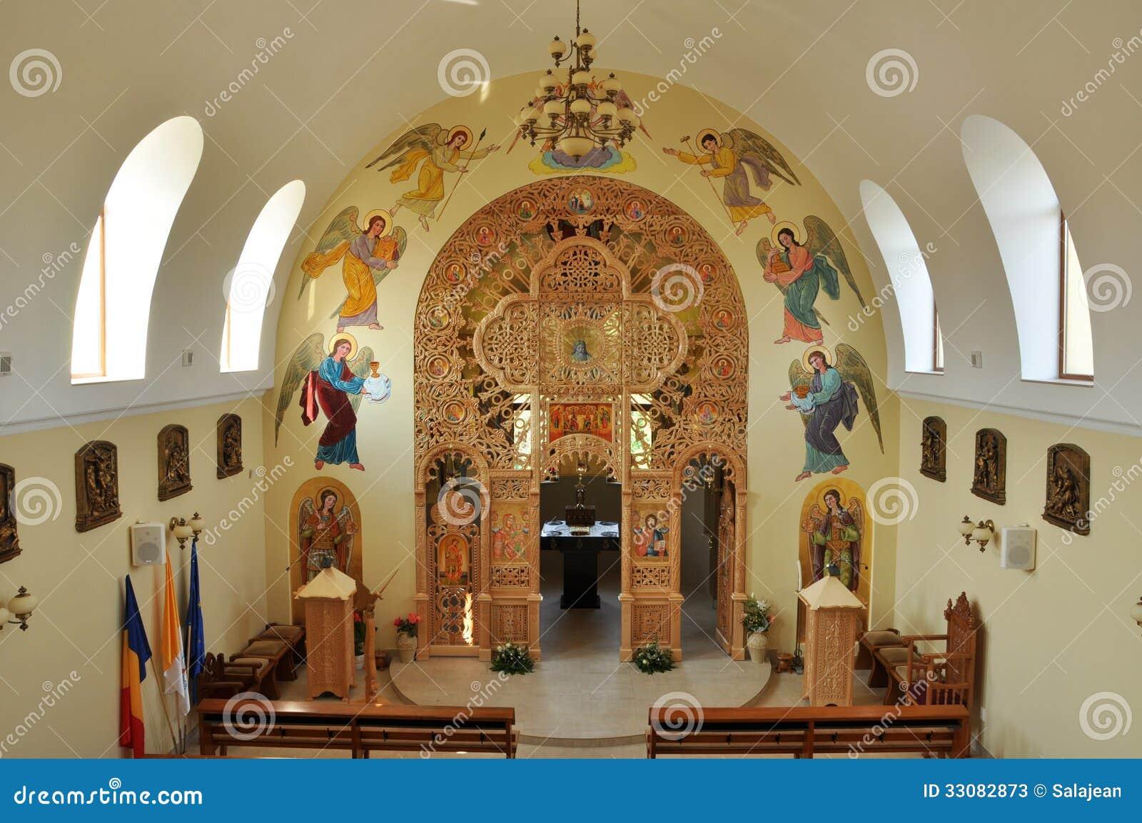 Interior De La Iglesia Ortodoxa Rumania Fotos De Archivo