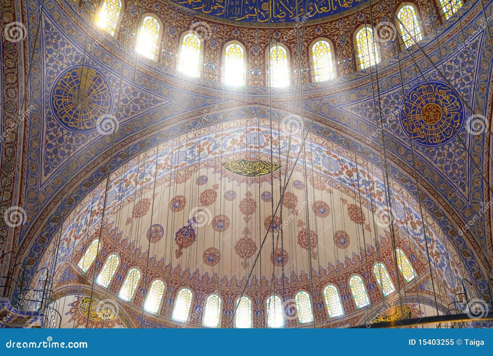 Interior de la mezquita/de la Estambul azules, Turquía