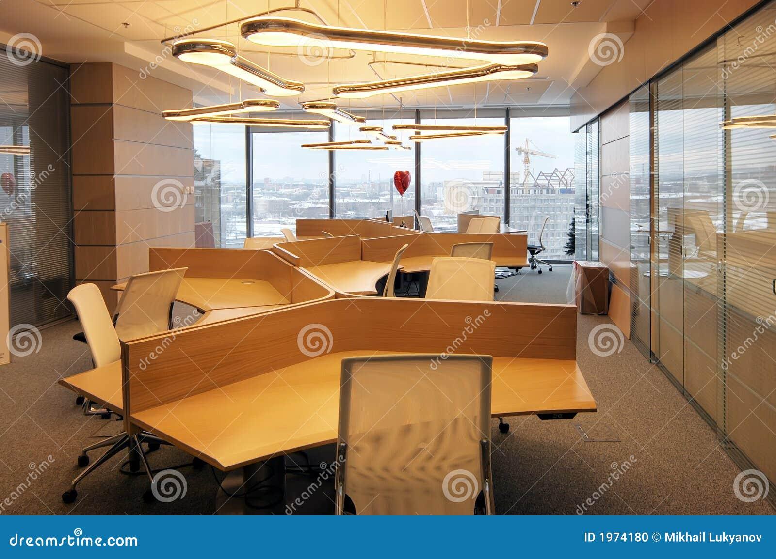 Interior de la oficina moderna foto de archivo imagen for Interior oficinas modernas