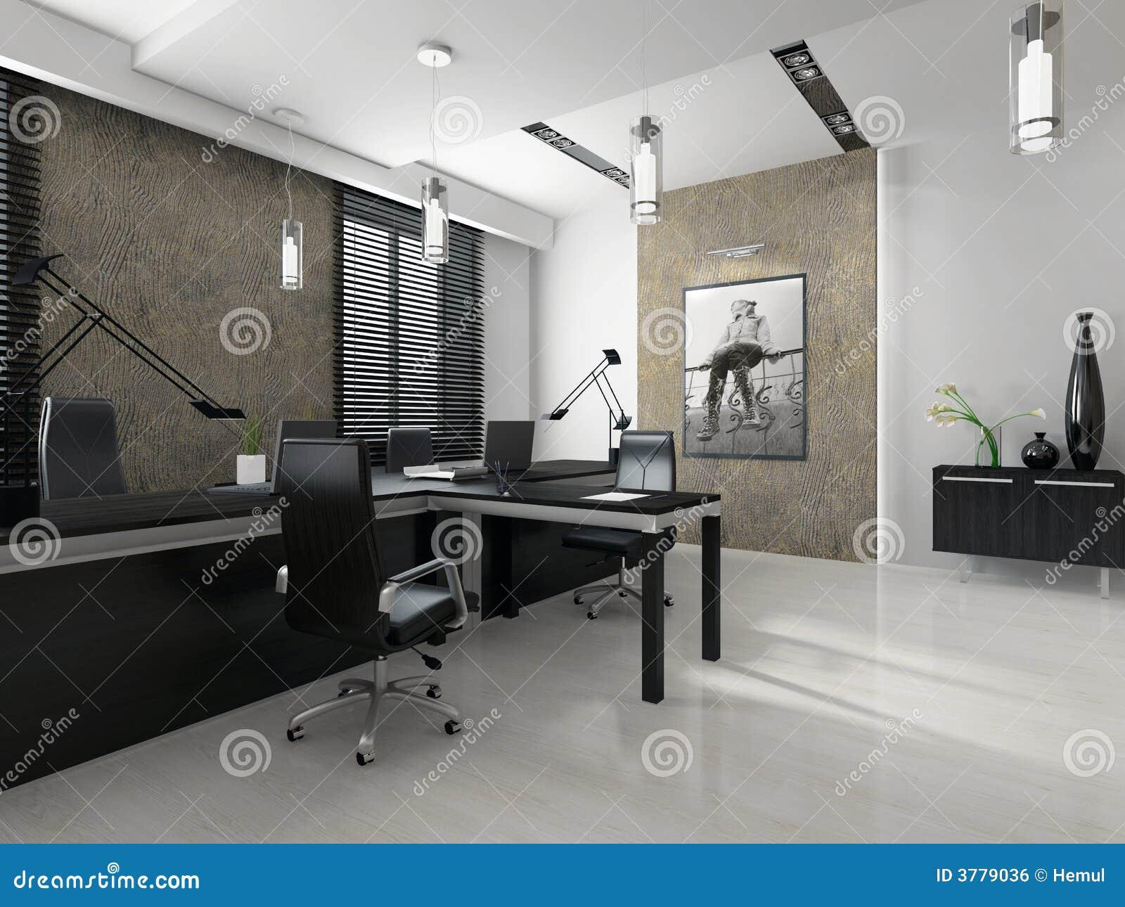 Interior de la oficina moderna imagen de archivo libre de for Interior oficina
