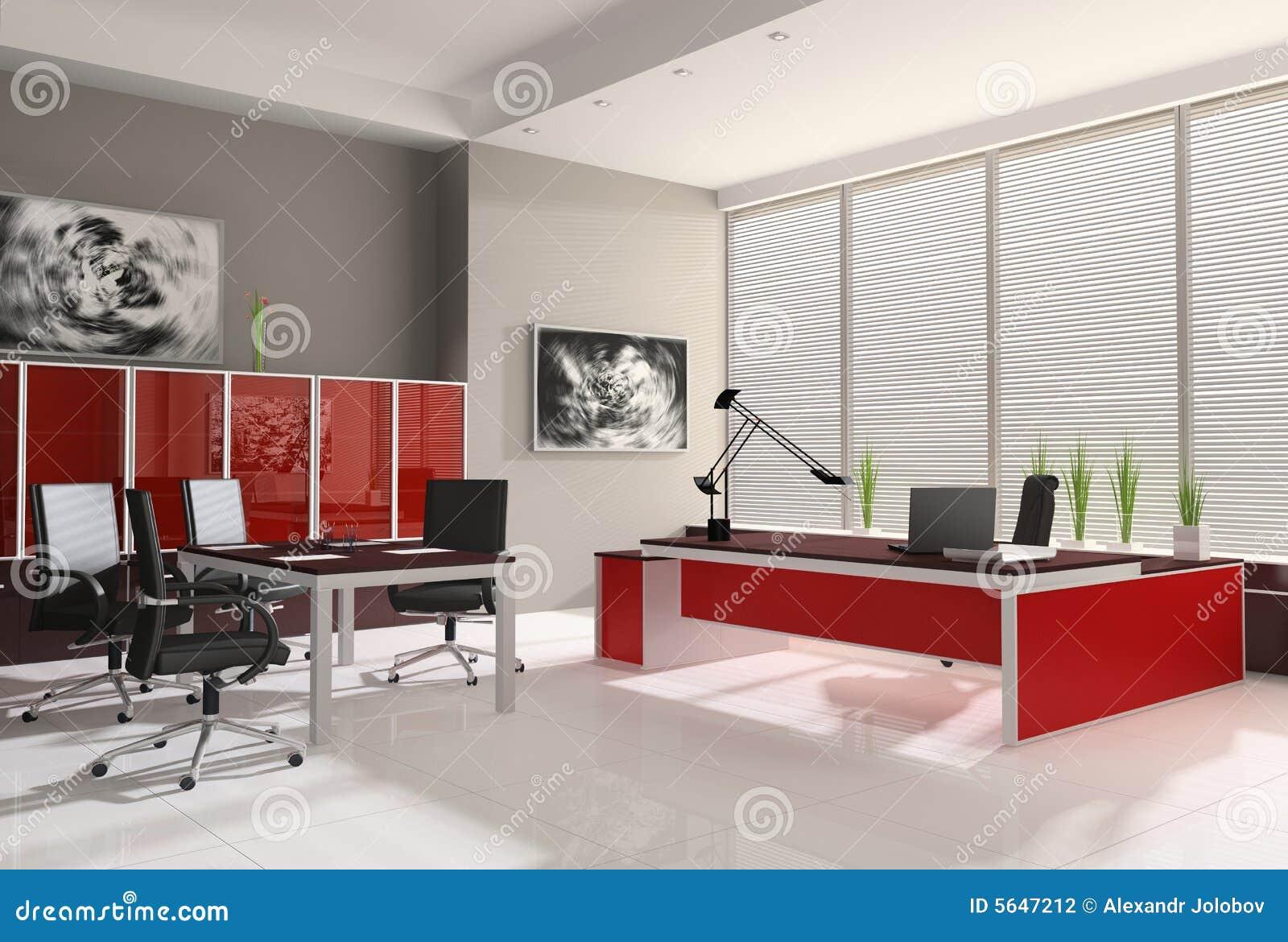 Interior de la oficina moderna stock de ilustraci n for Interior oficina