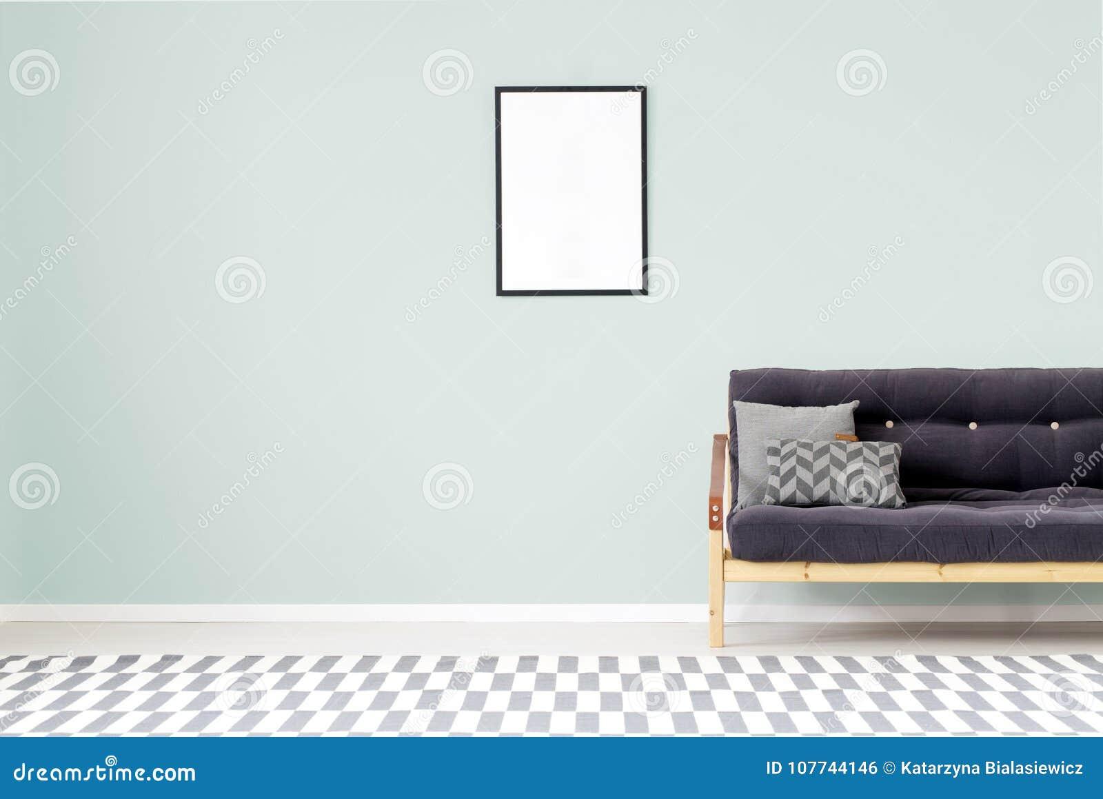 Interior de la sala de estar de la menta