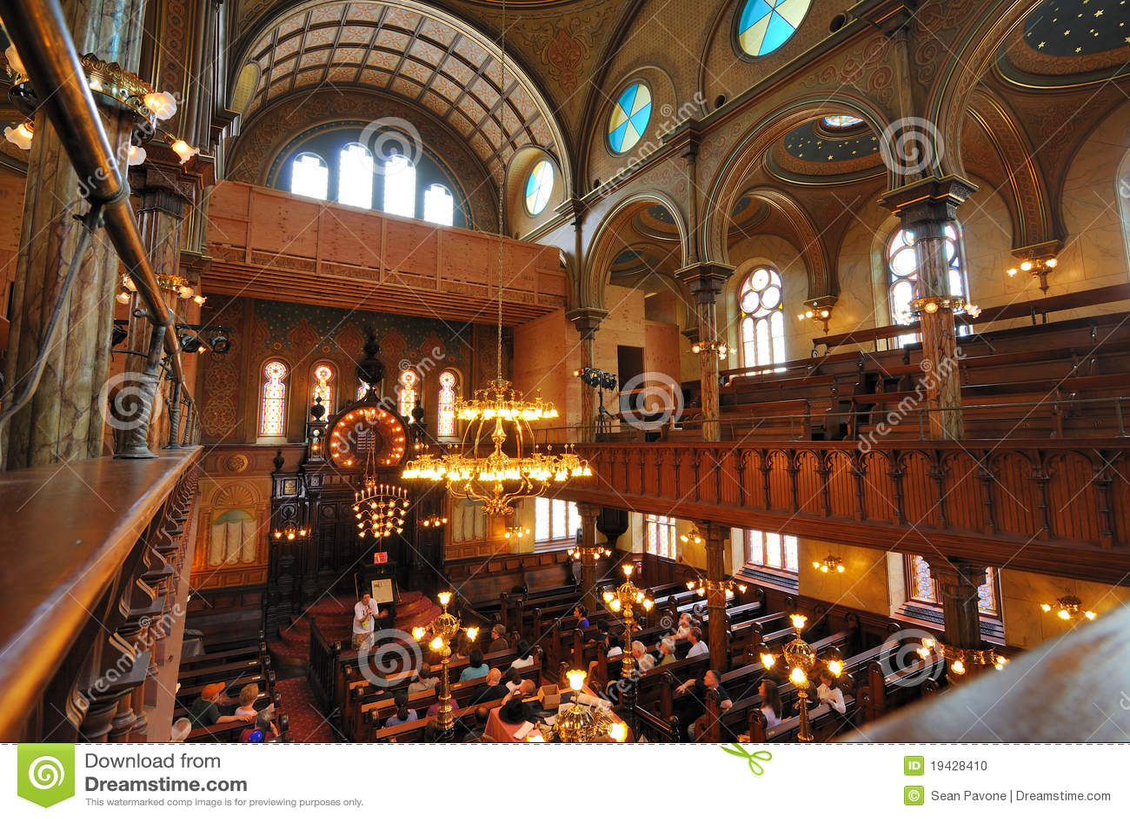 Interior De La Sinagoga De La Calle De Eldridge Imagen