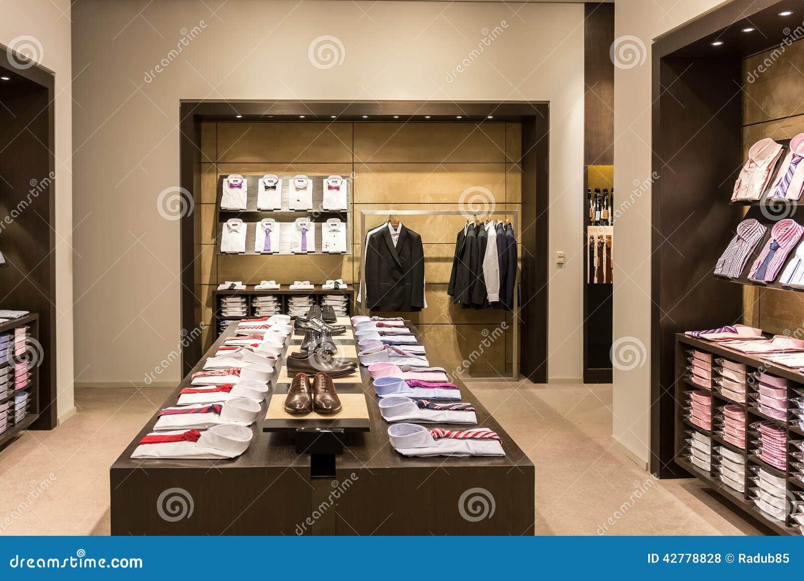 interior de la tienda de ropa de los hombres foto de archivo editorial imagen de visualizaci n. Black Bedroom Furniture Sets. Home Design Ideas