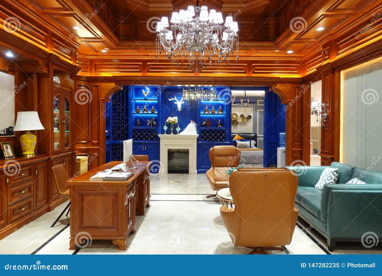 Interior de lujo de la sala de estar del hogar moderno