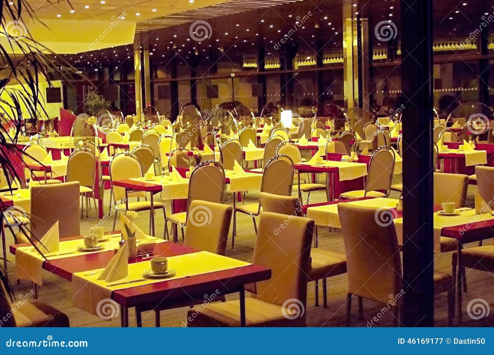 Interior De Restaurantes Modernos De Um Hotel Imagem De