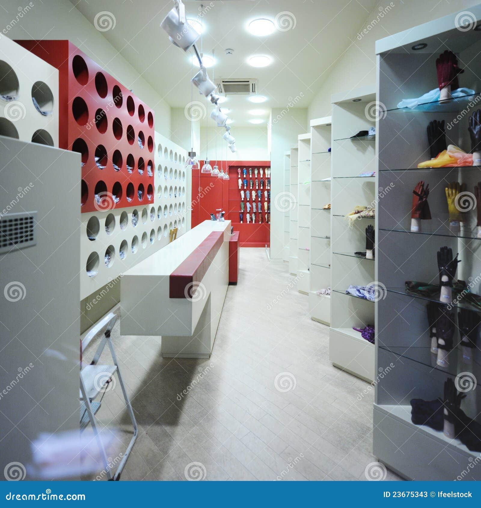Interior de un almac n moderno del boutique fotos de for Un boutique