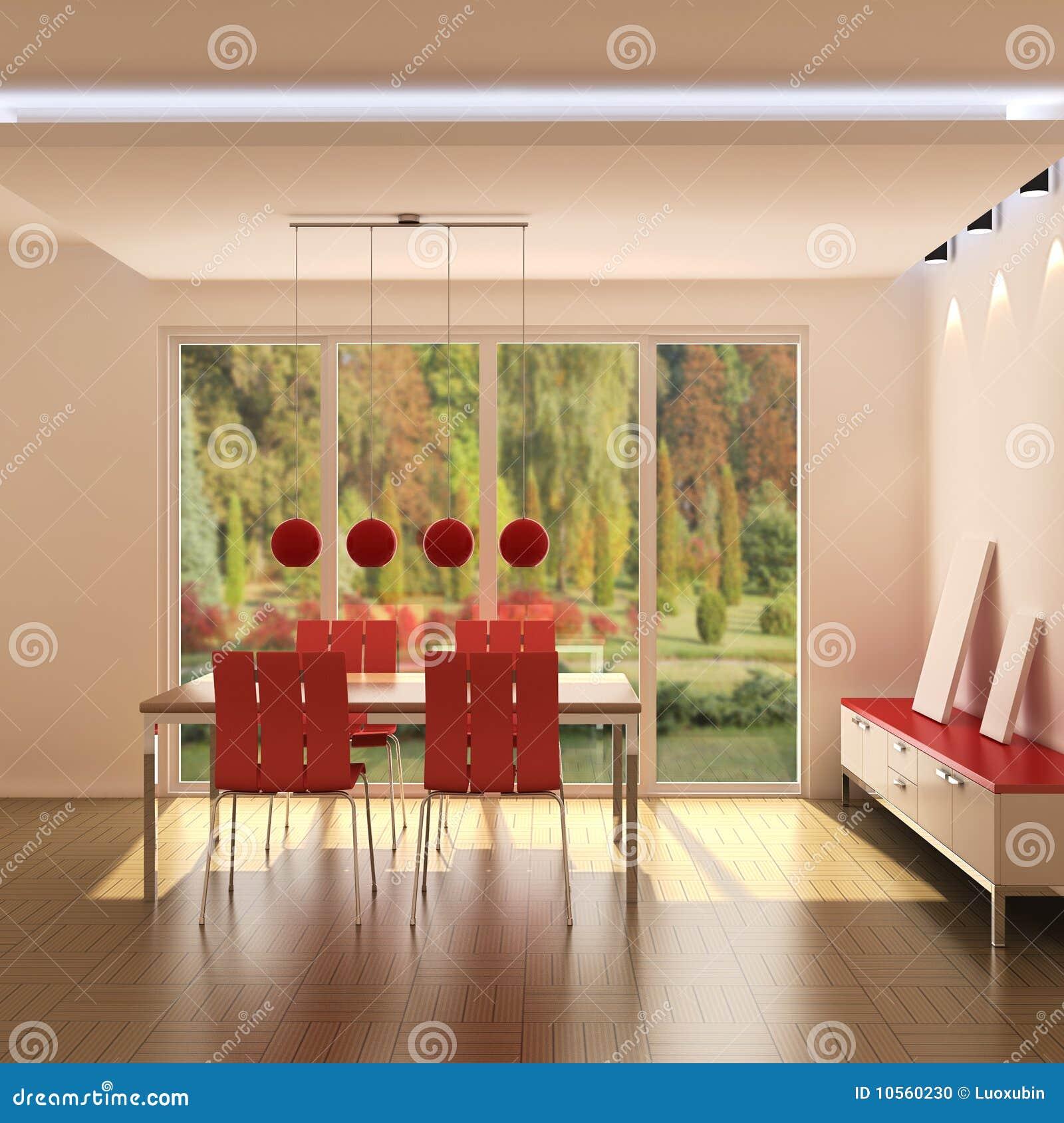 Interior de un comedor moderno
