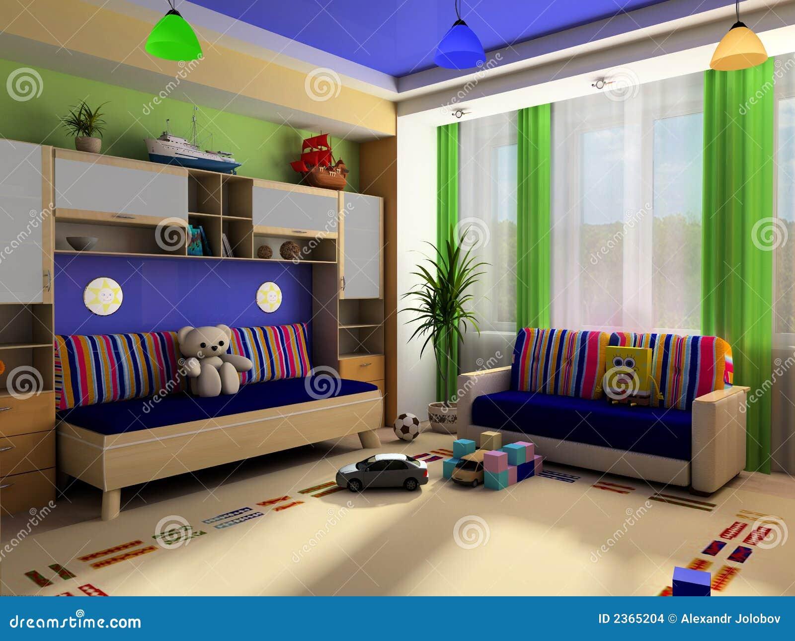 Interior de un cuarto de ni os imagenes de archivo for Cuarto xl mostaza
