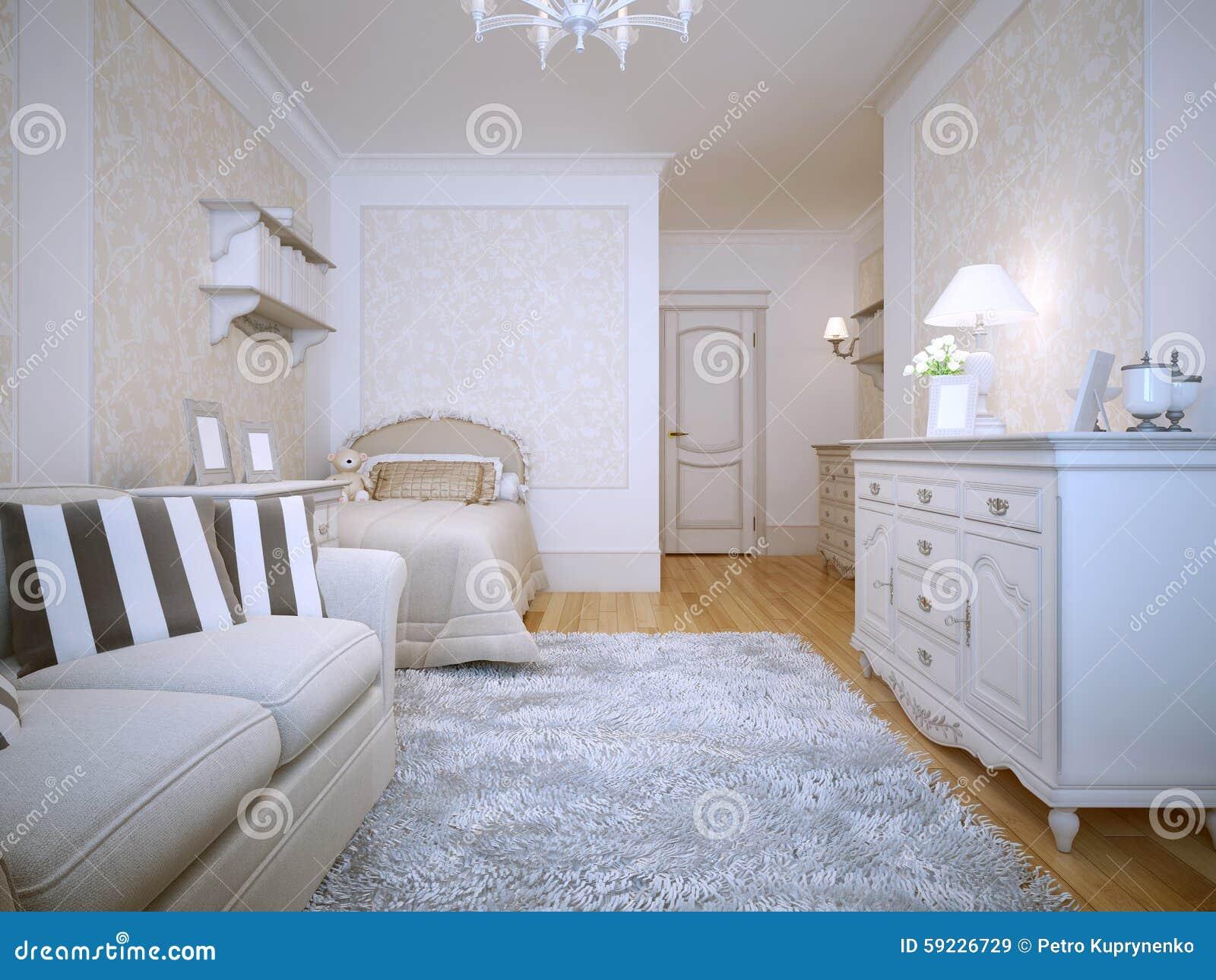 Download Interior De Un Dormitorio Del Estilo De Provence Stock de ilustración - Ilustración de libros, diseño: 59226729