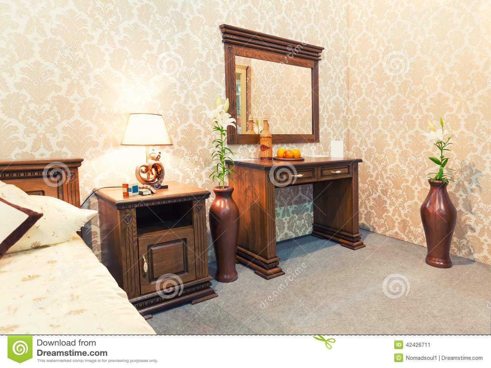 Interior de un dormitorio magnífico