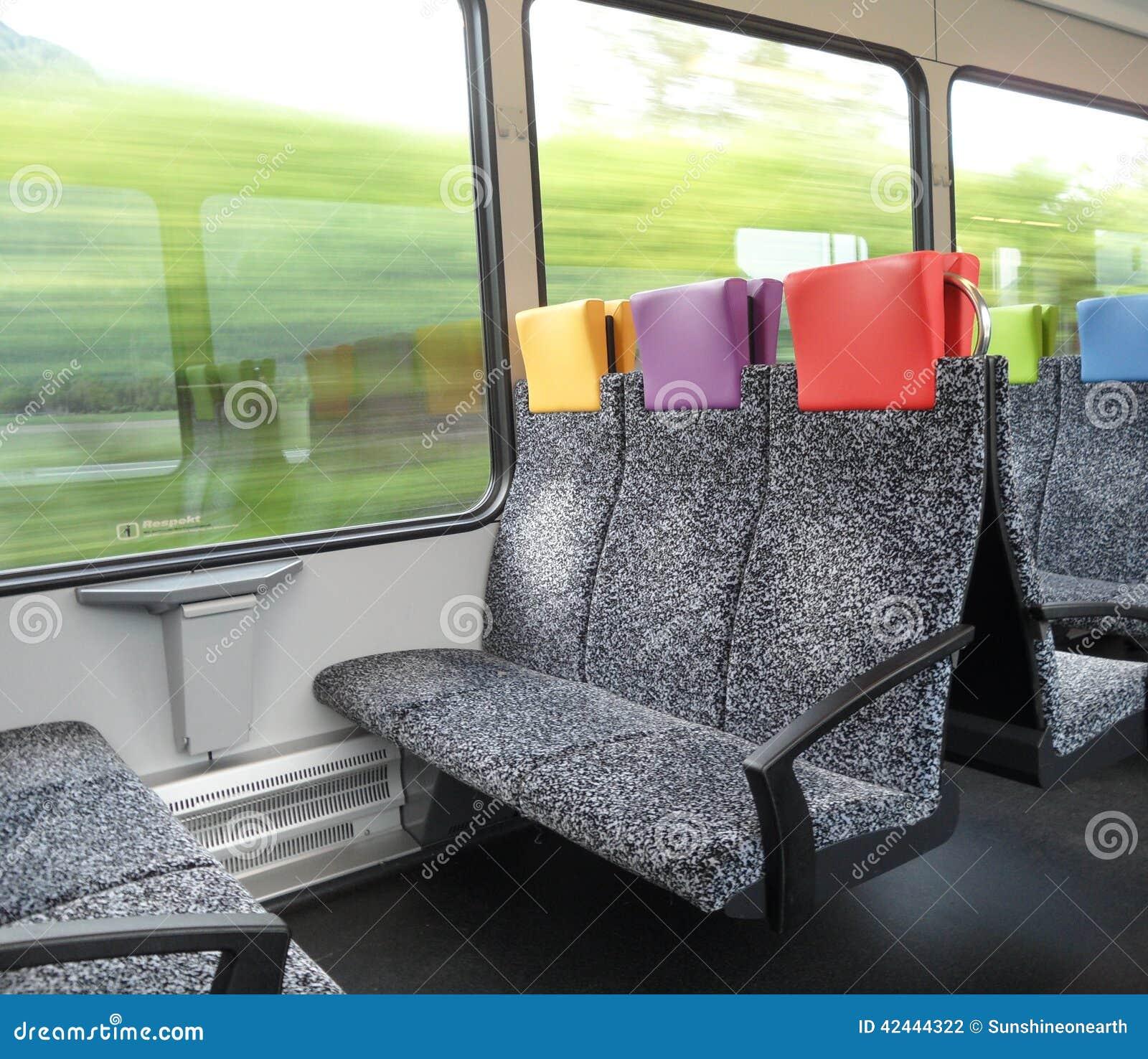 Interior de un tren Suiza de Thurbo
