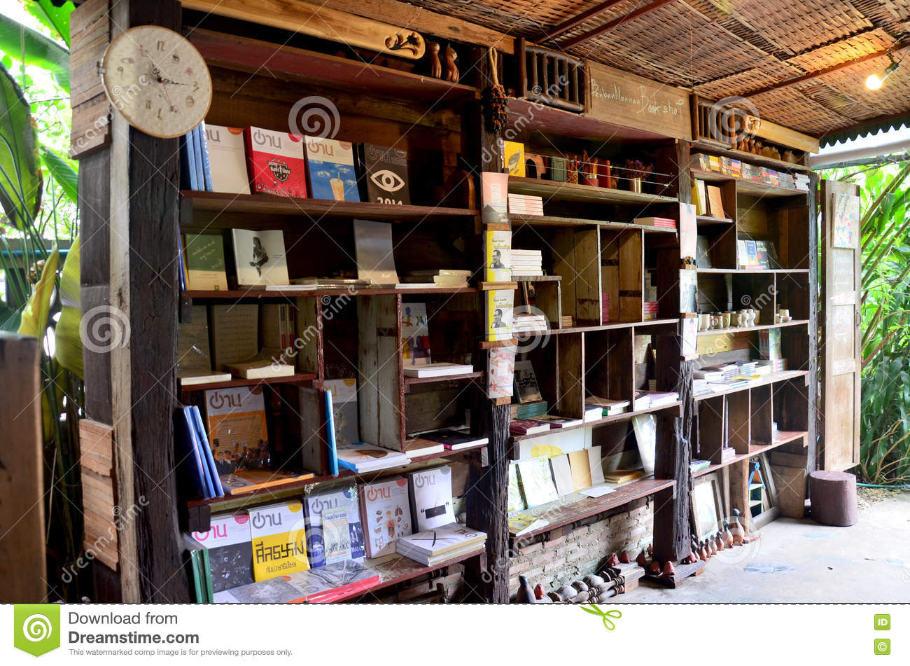 Interior Decorate Of Old House Book Store