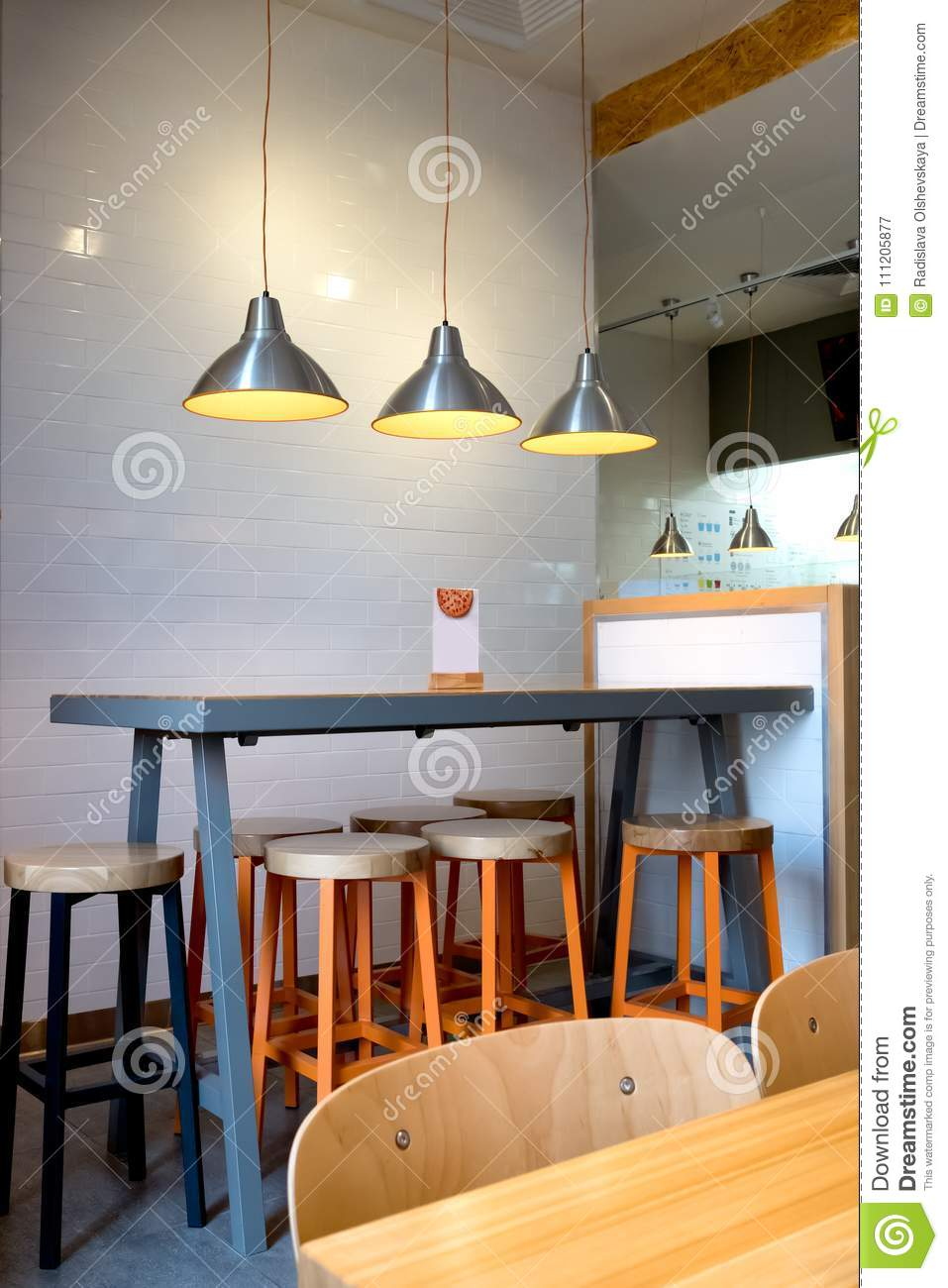 Interior Decoration Of Cafe Stock Image - Image of style ...