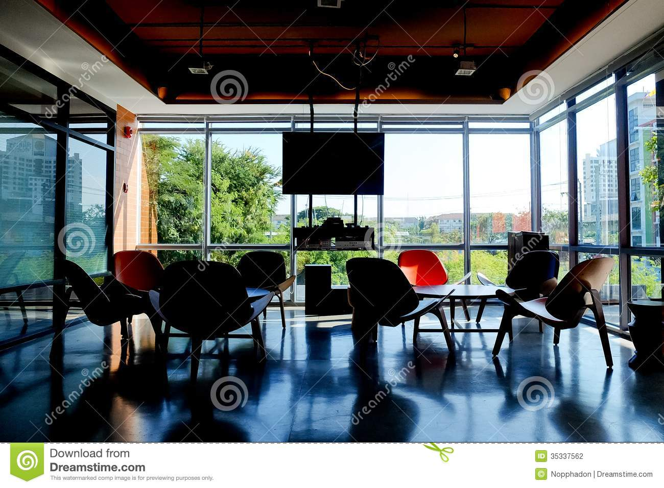 Interior And Decoration Of A Coffee Shop Cafe Stock Photo