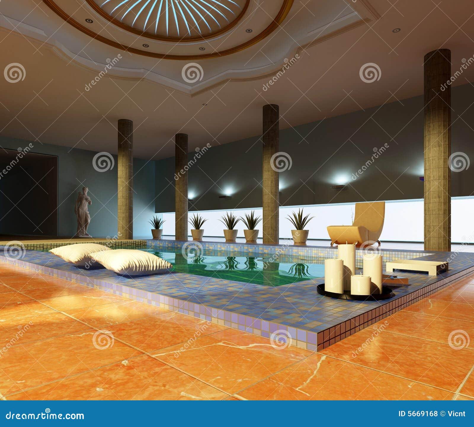 Interior del balneario