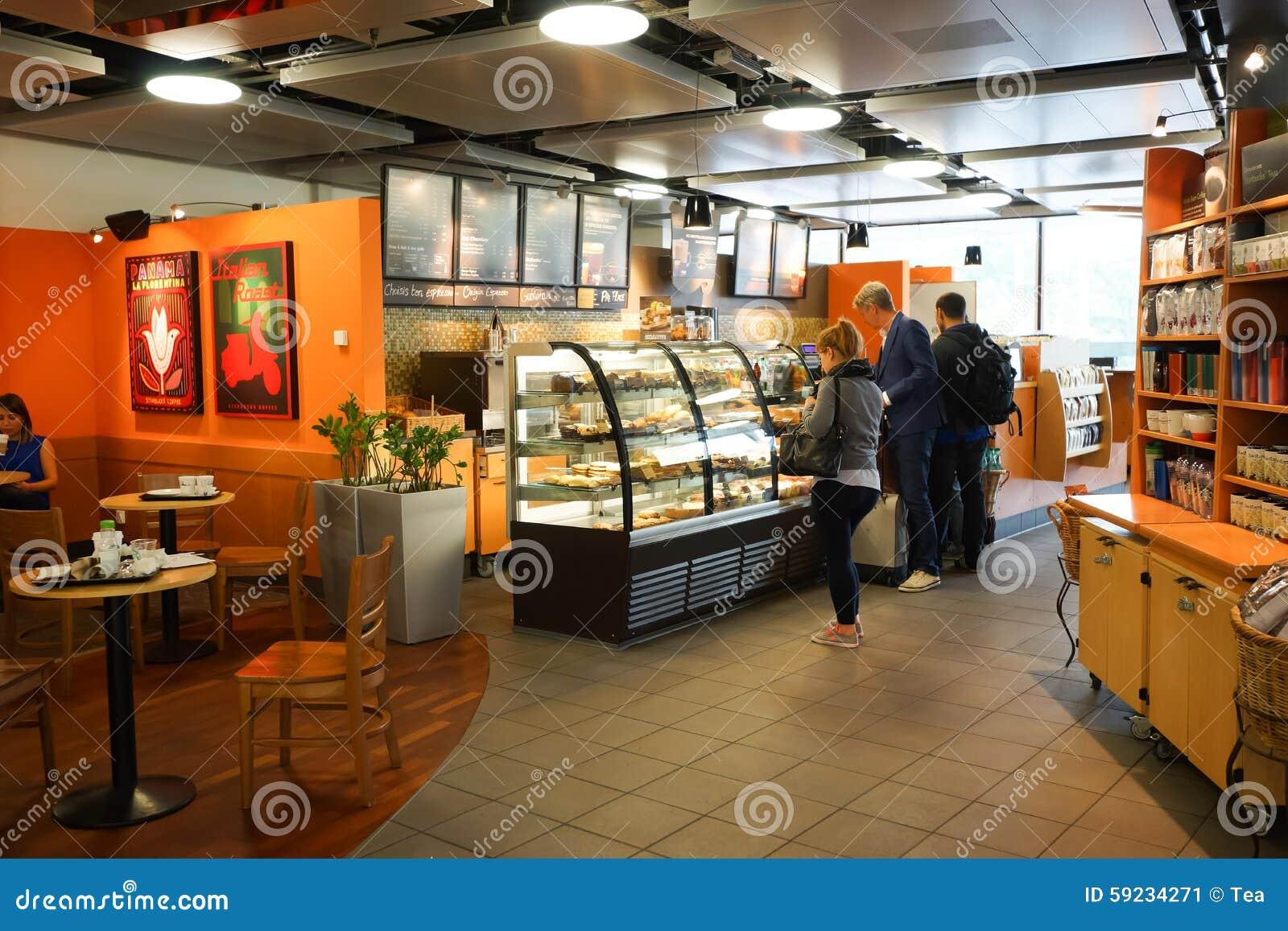 Download Interior Del Café De Starbucks Foto editorial - Imagen de cafetería, brand: 59234271