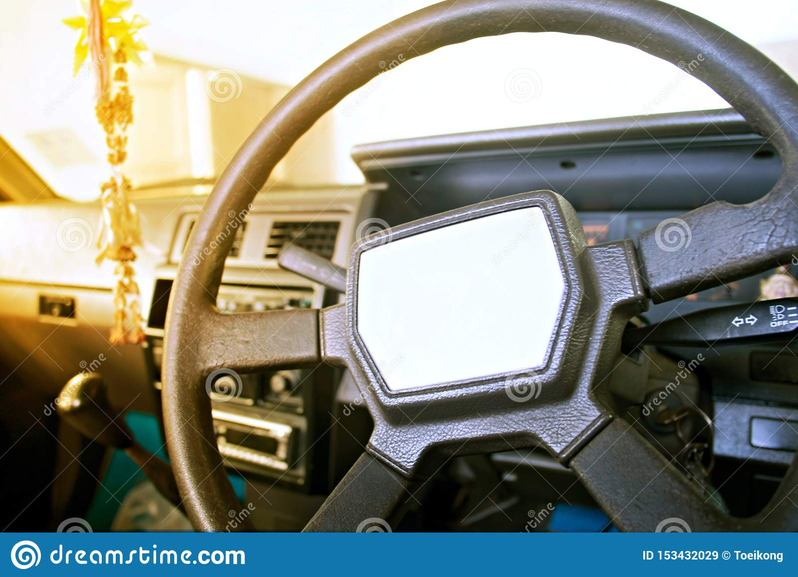 Interior del coche viejo