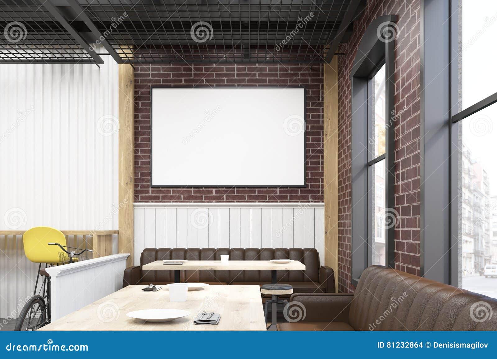 Interior Del Comensal Con Muebles Amarillos Y Marrones Stock De  # Muebles Marrones