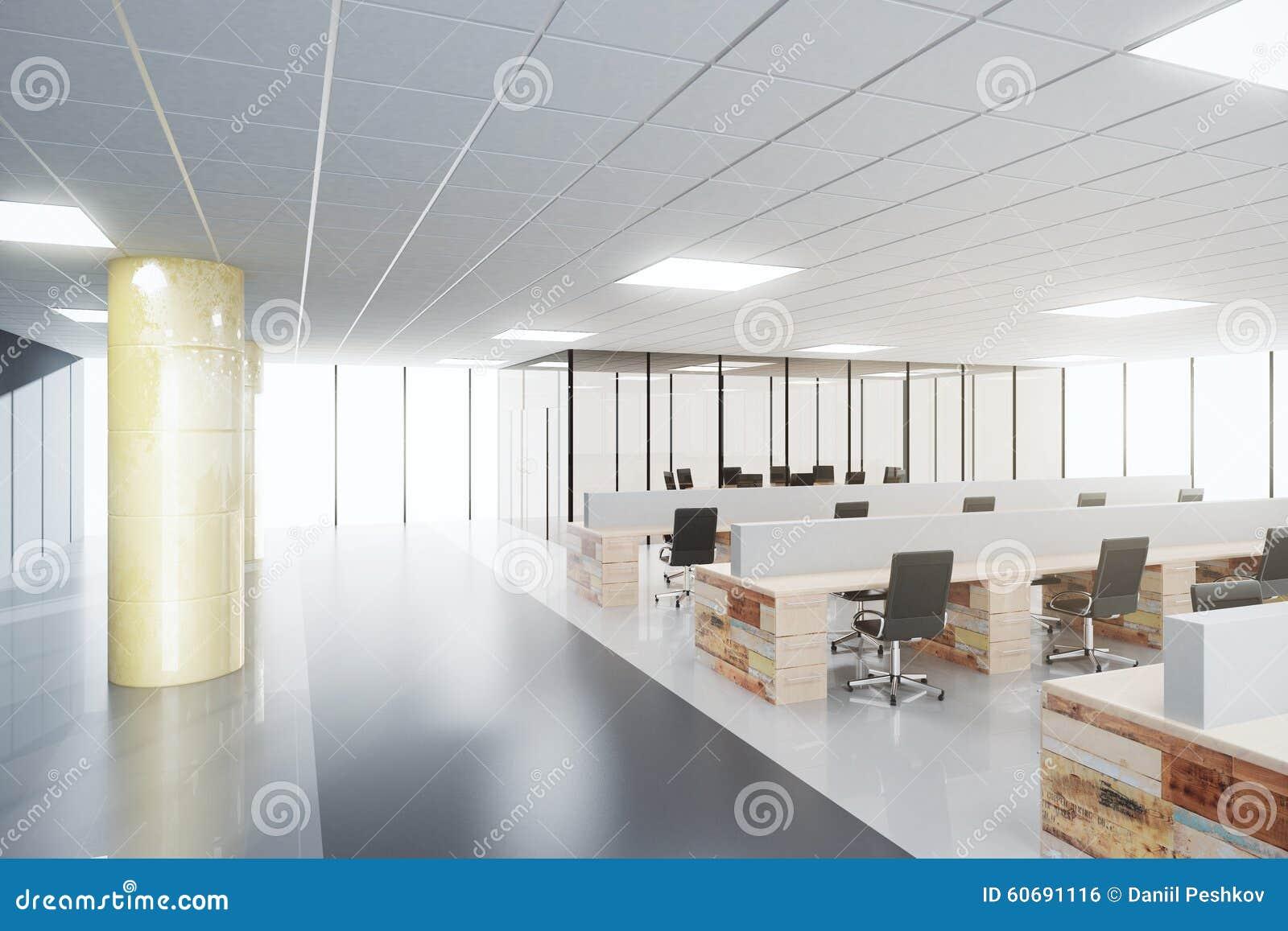Interior del concepto de la oficina del espacio abierto for Concepto de oficina