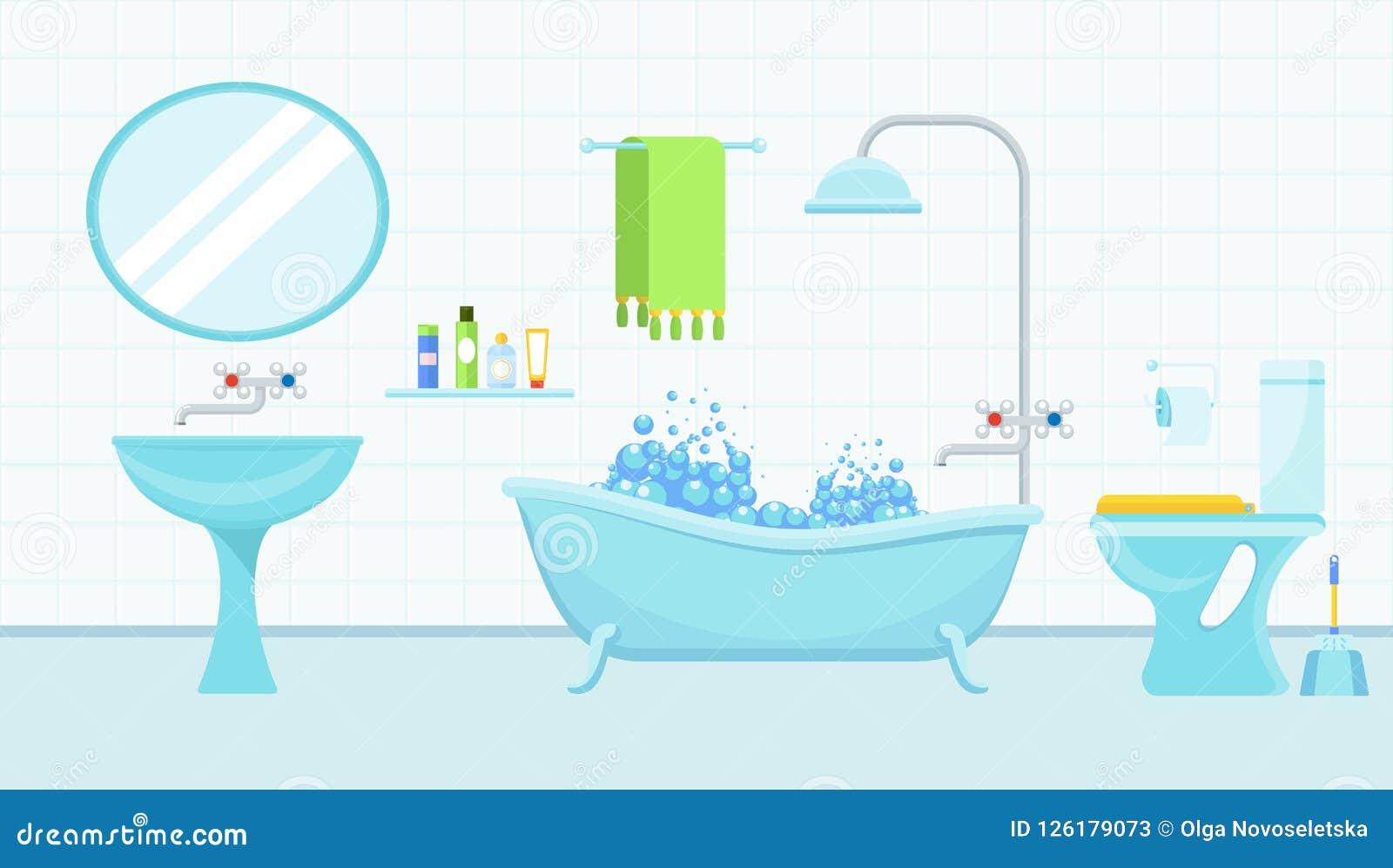 Interior Del Cuarto De Baño Con Un Retrete Y De Los ...
