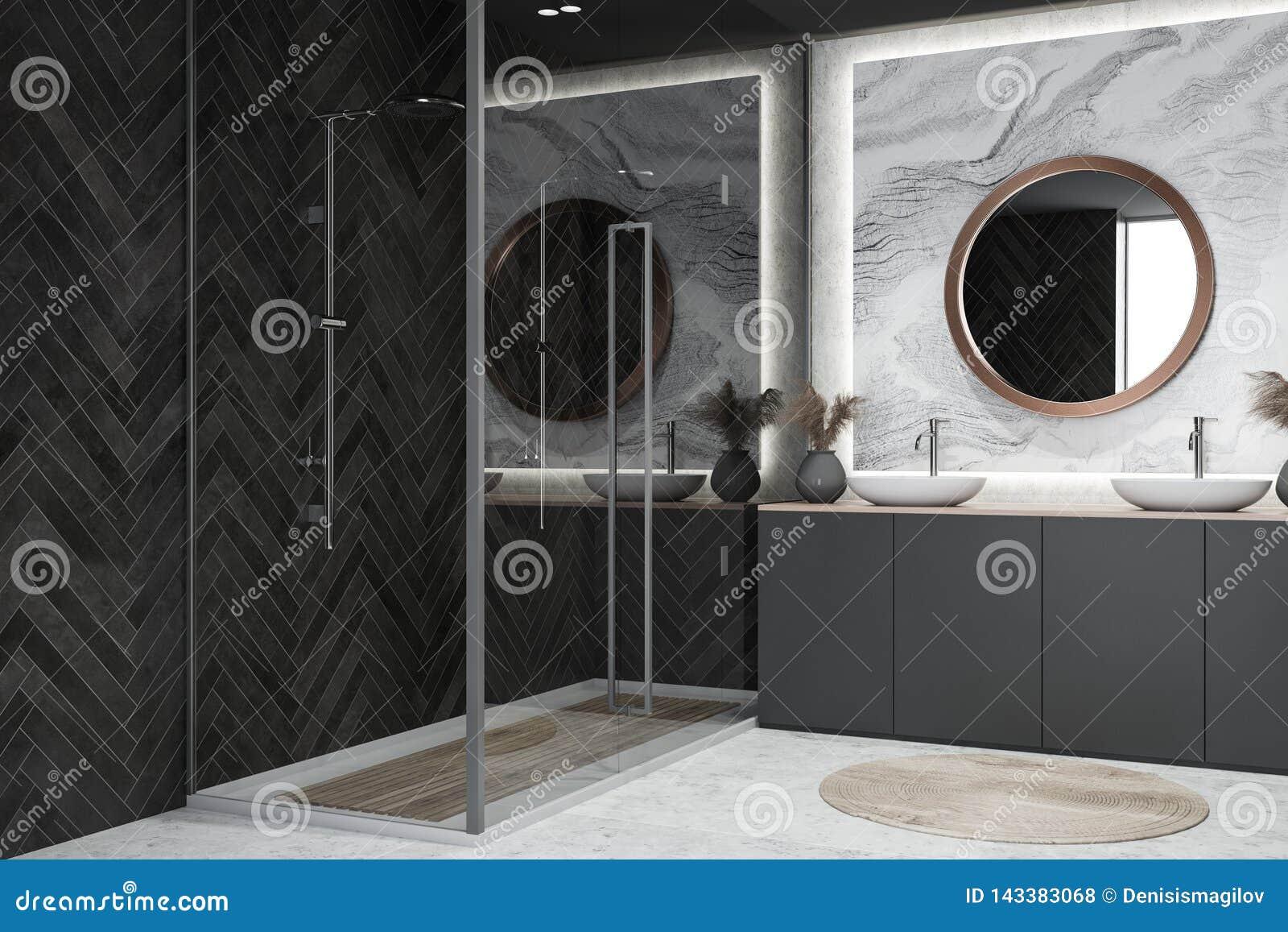 Interior Del Cuarto De Baño Del Diseño Moderno Stock de ...
