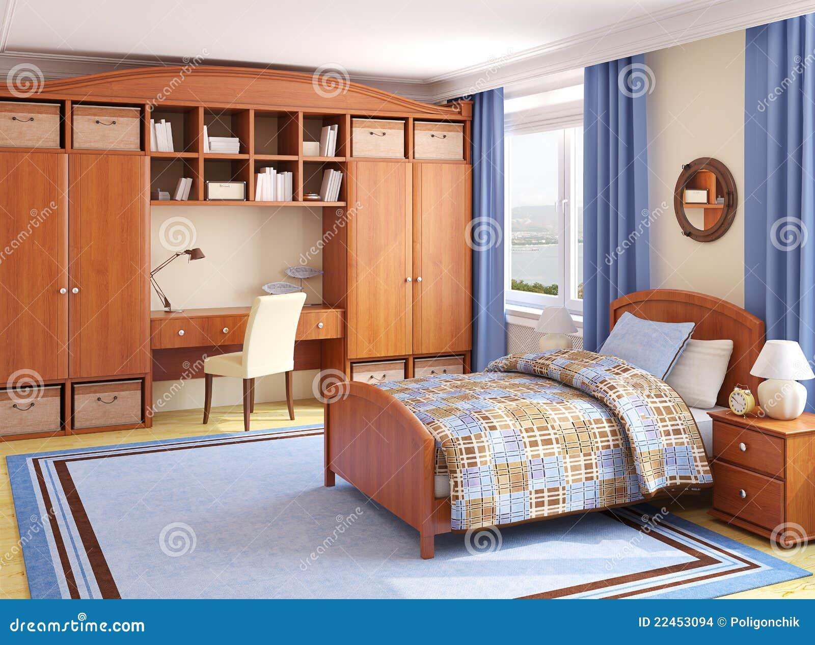 Interior del cuarto de ni os imagenes de archivo imagen for Cuarto para 3 ninos