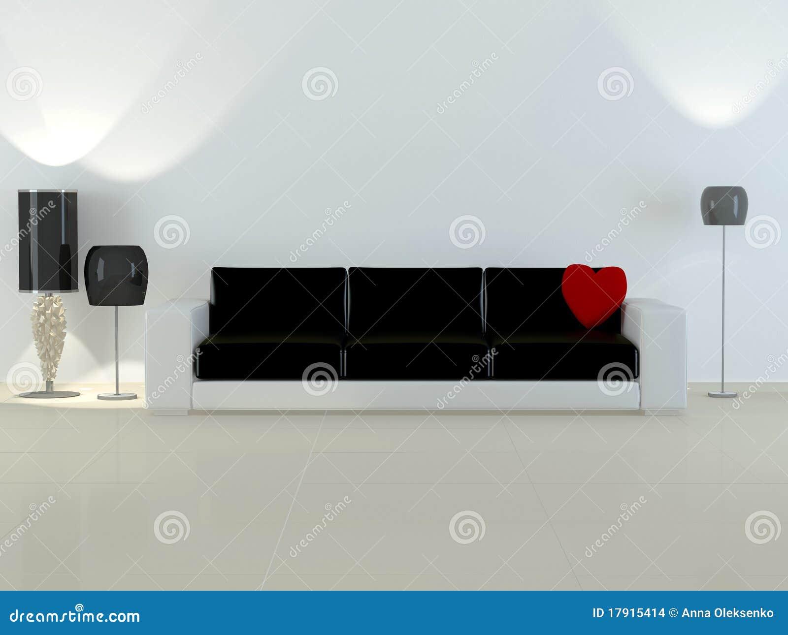 Interior del diseño de la sala de estar moderna de la elegancia