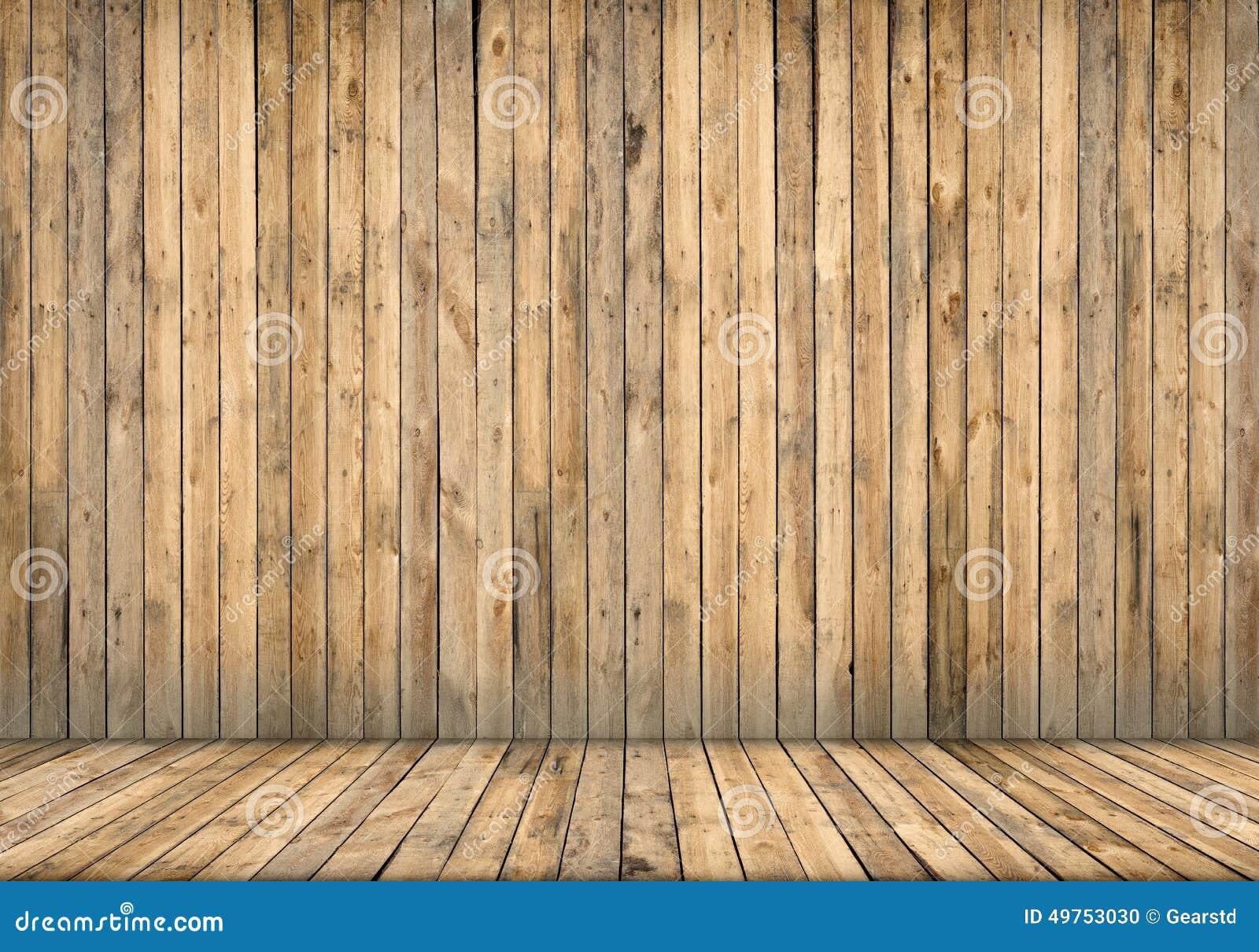 Interior del fondo pared y suelo de madera foto de archivo - Suelo madera interior ...