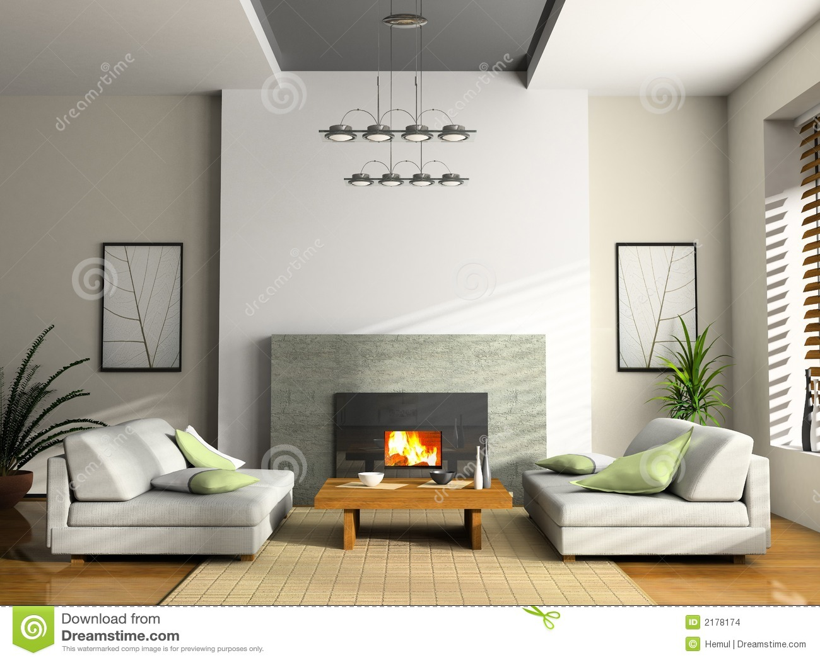 interior del hogar con la chimenea stock de ilustraci n