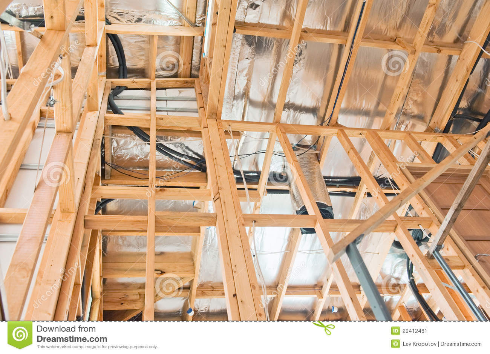 Interior del hogar de la construcción