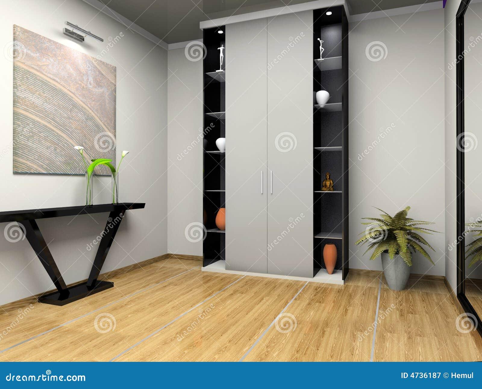 Interior del pasillo moderno