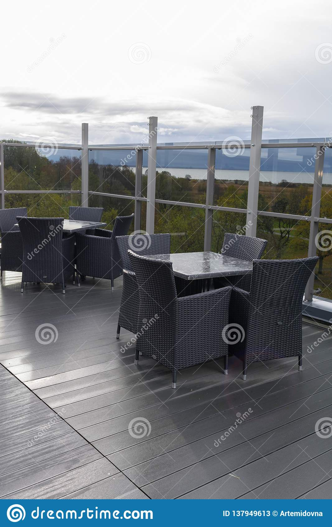 Interior Del Restaurante De Seaview Terraza O Mirador Imagen