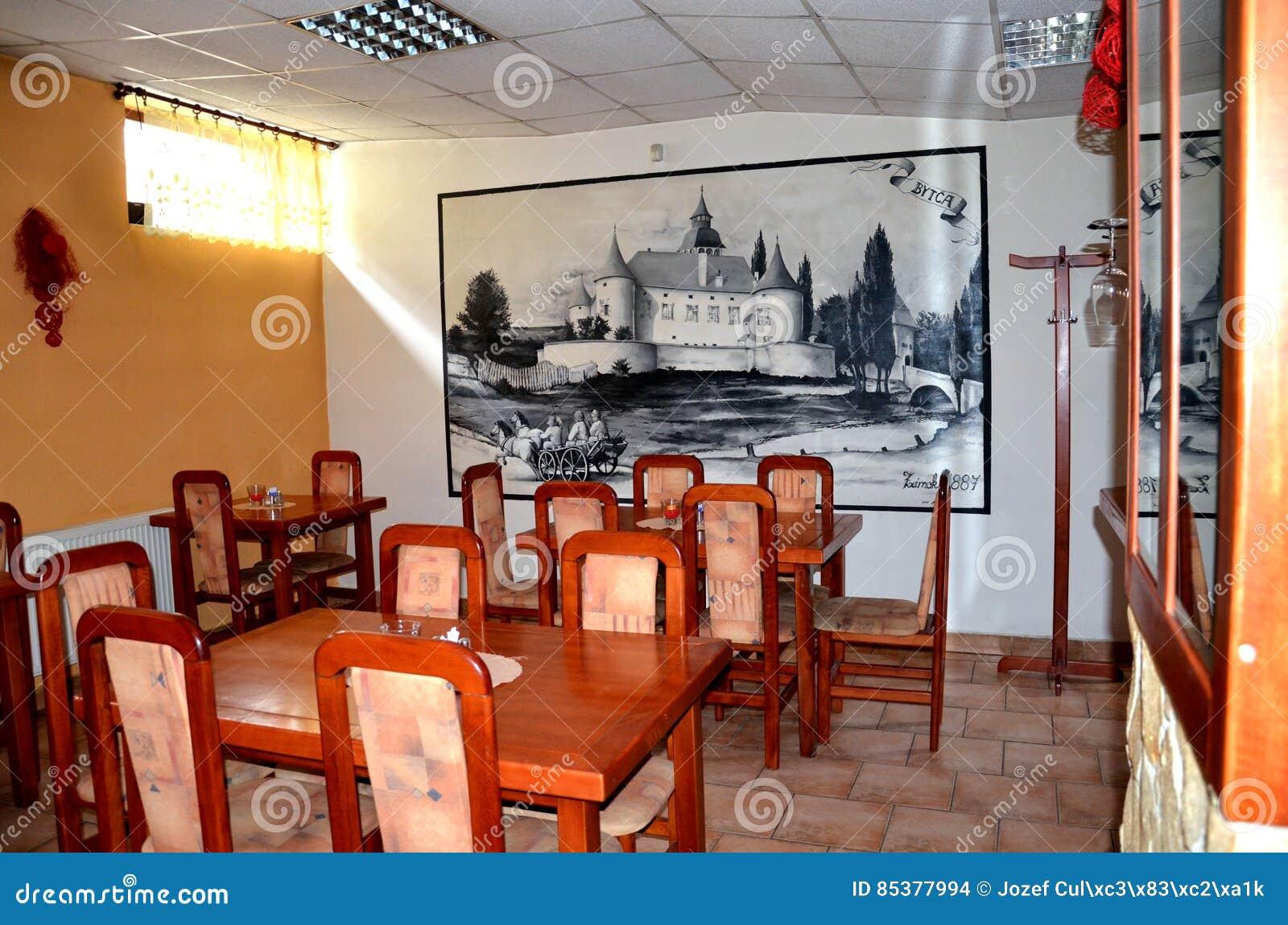 Interior Del Restaurante Que Contiene Los Muebles De Madera Y La  # Muebles Historicos