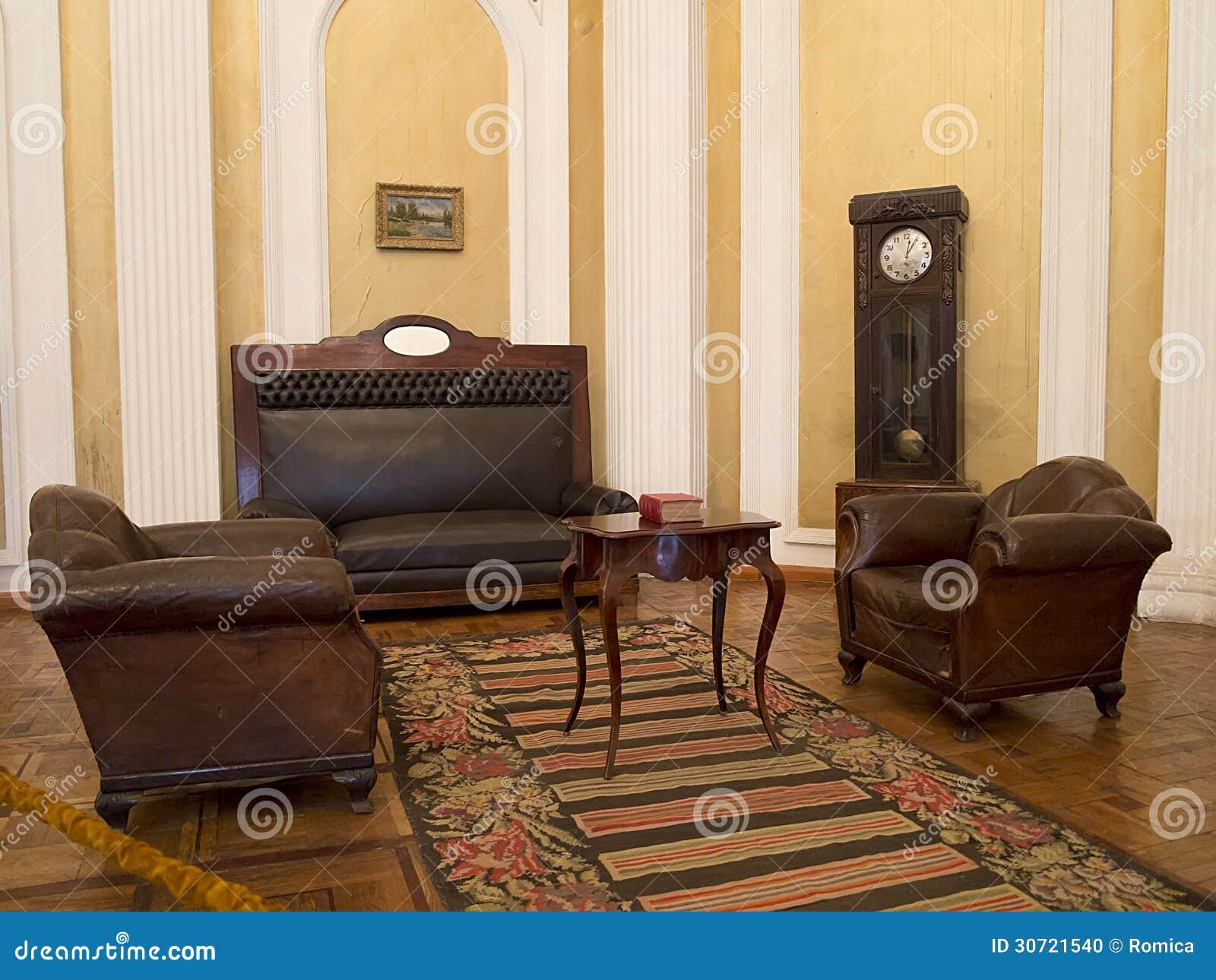 Interior del siglo xix del vintage con muebles imagen for Diseno de interiores siglo xix