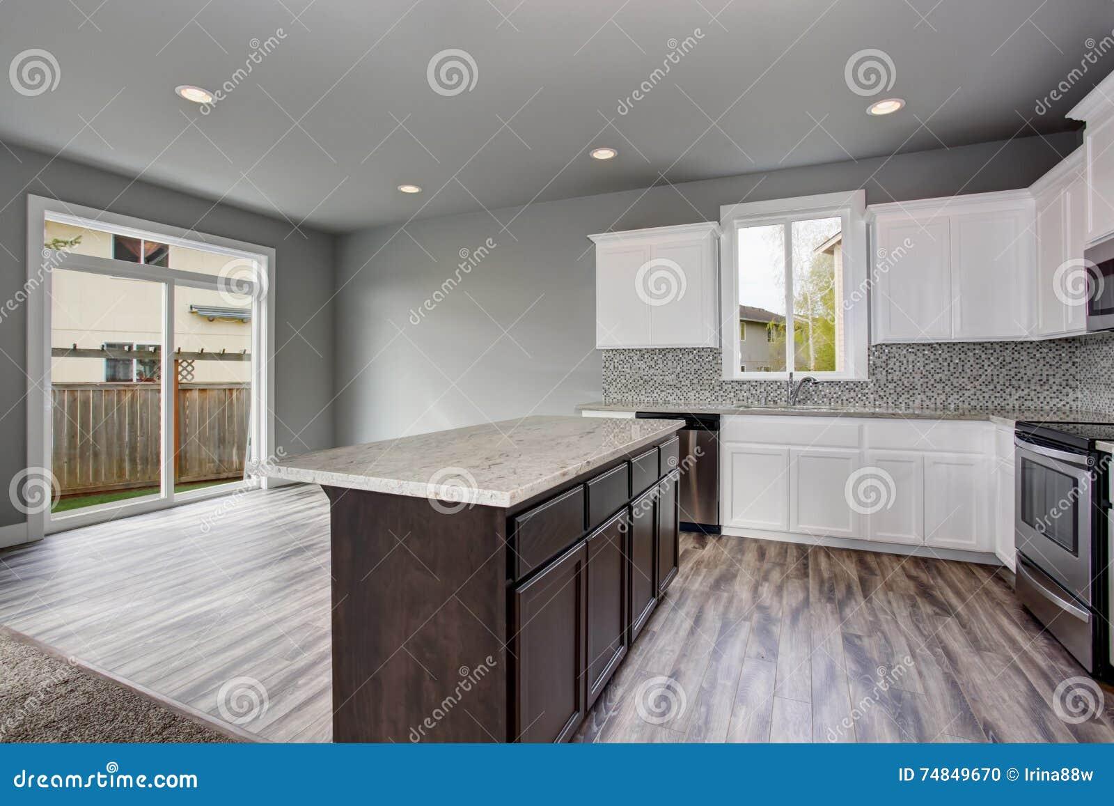 Interior Del Sitio De La Cocina De Una Casa Vac A Puertas De  ~ Puertas De Cristal Para Cocinas