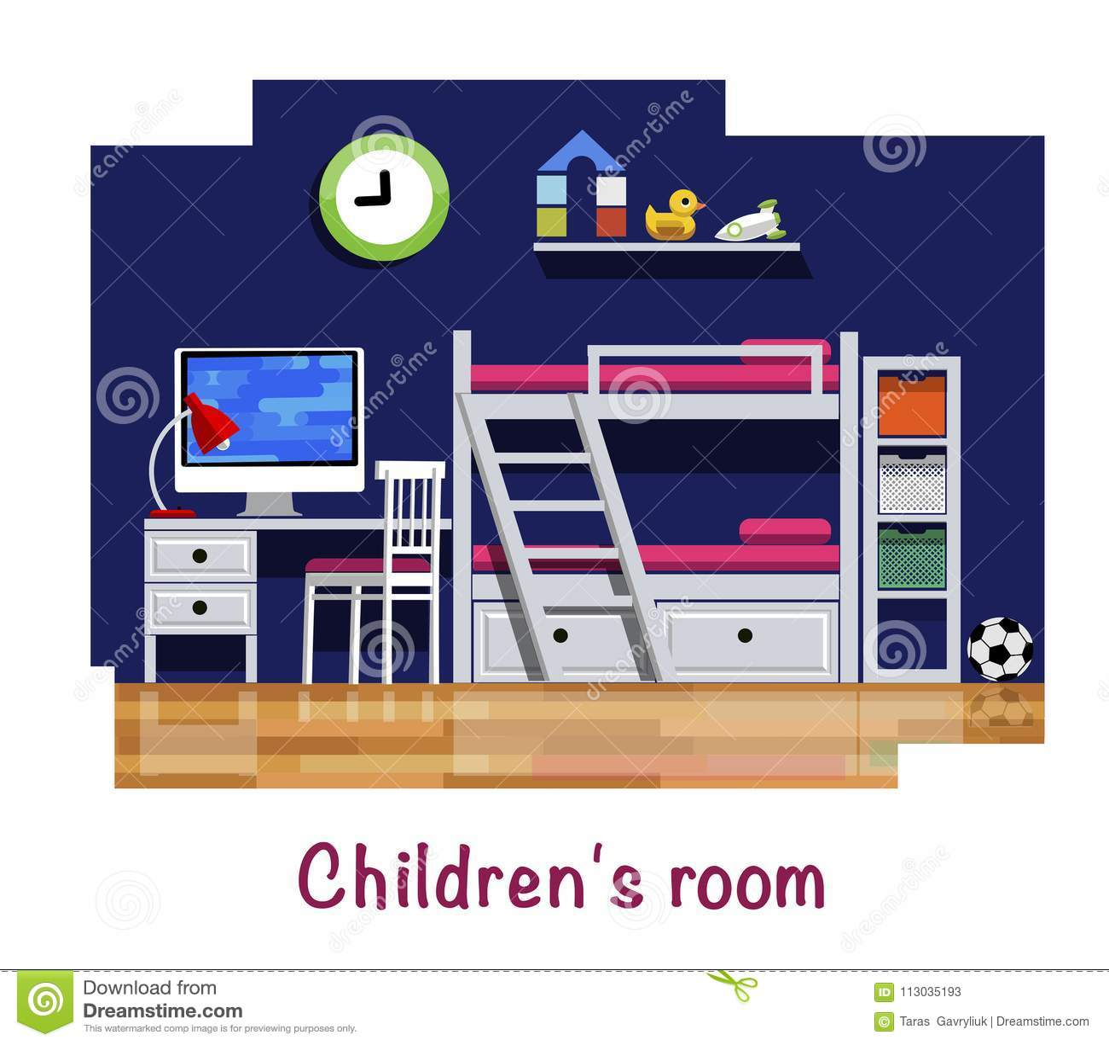Interior del sitio del ` s de los niños