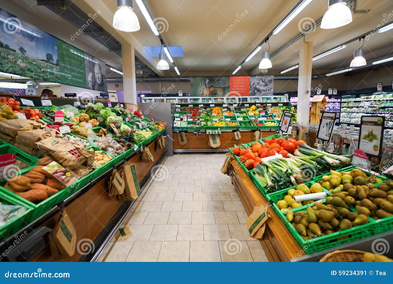 Download Interior del supermercado foto editorial. Imagen de negocios - 59234391