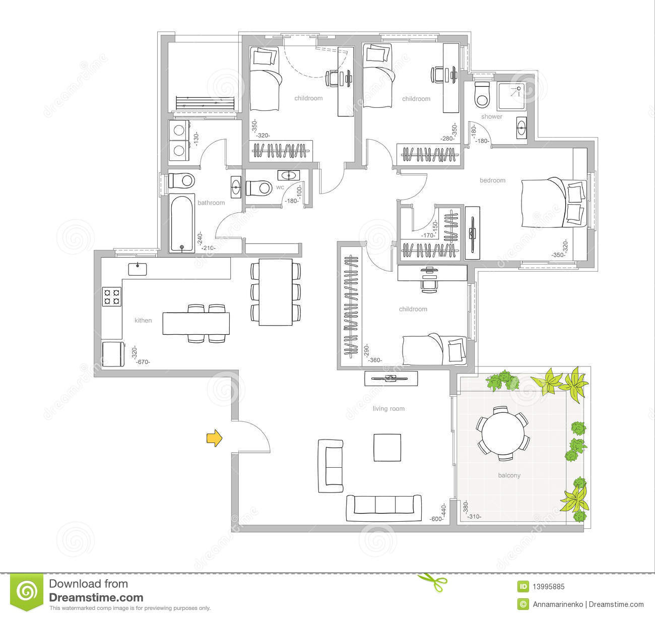 Apartments. 3D Floor Planner Home Design Software Online ...
