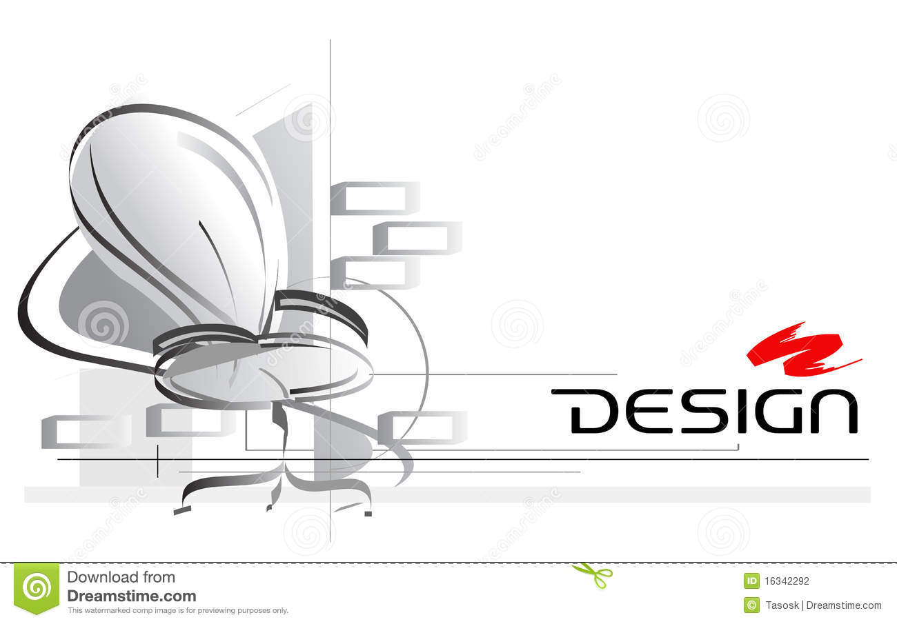 Interior design stock vector image of interior card for Interior design images vector