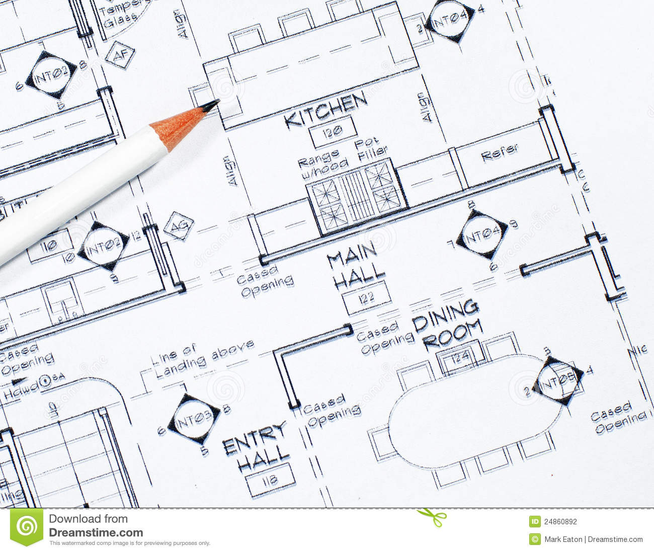 Interior design stock photo image of blueprint color for Image of interior design
