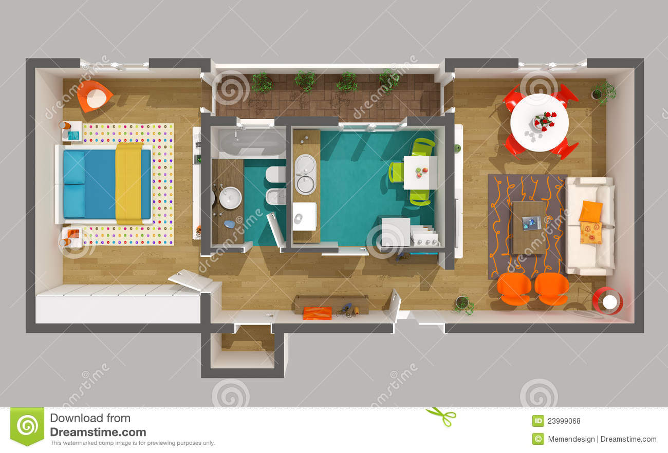 Interior design 3d home project small apartment royalty for House project online