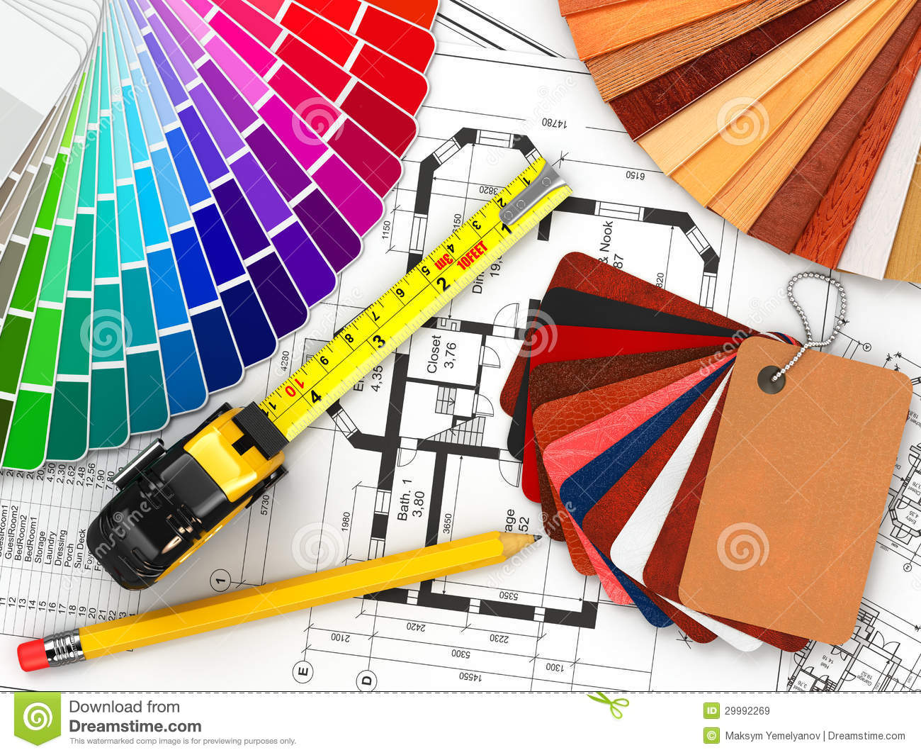 Royalty Free Stock Photo Download Interior Design Architectural Materials Tools