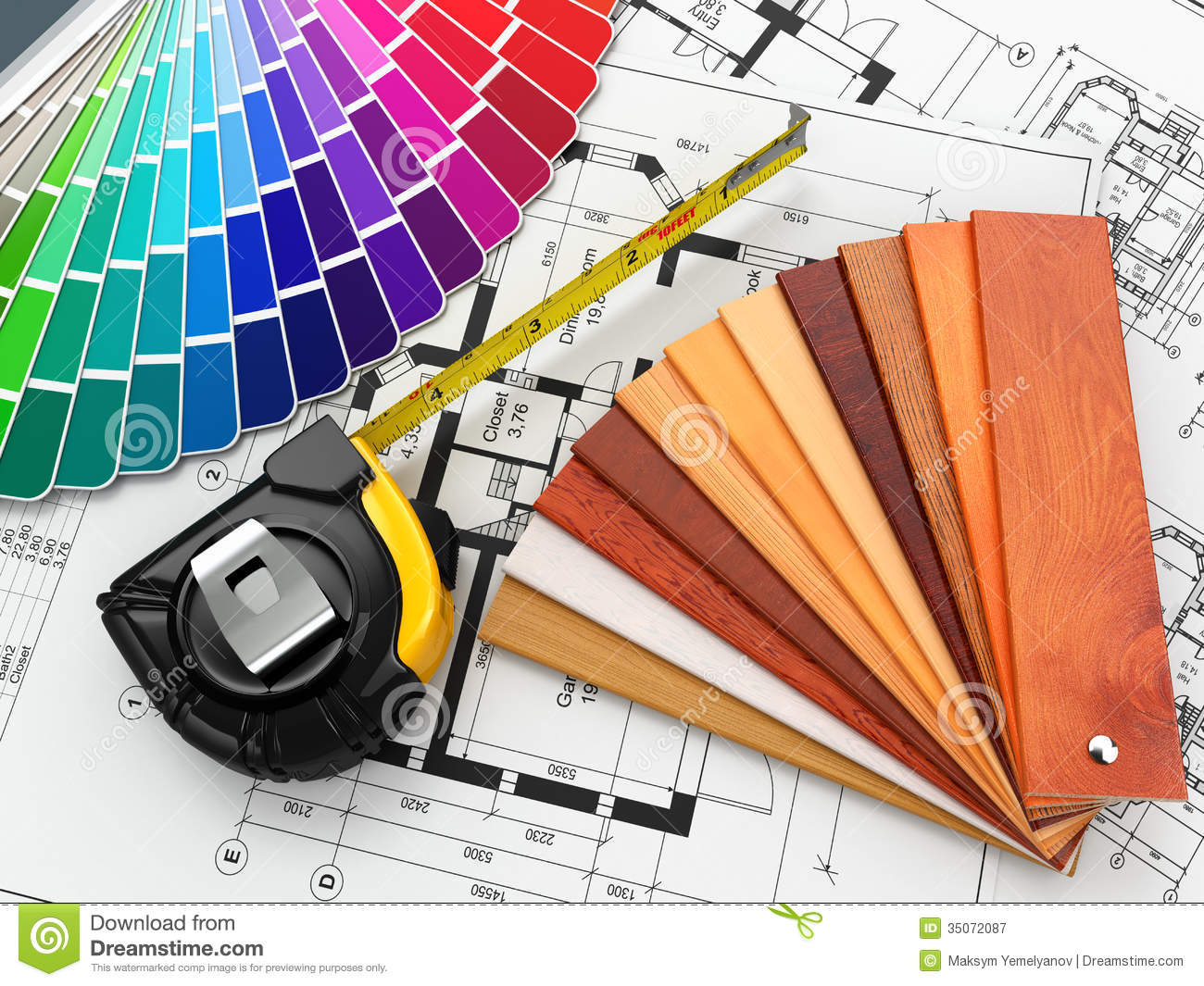 Interior Design. Architectural Materials Tools And ...